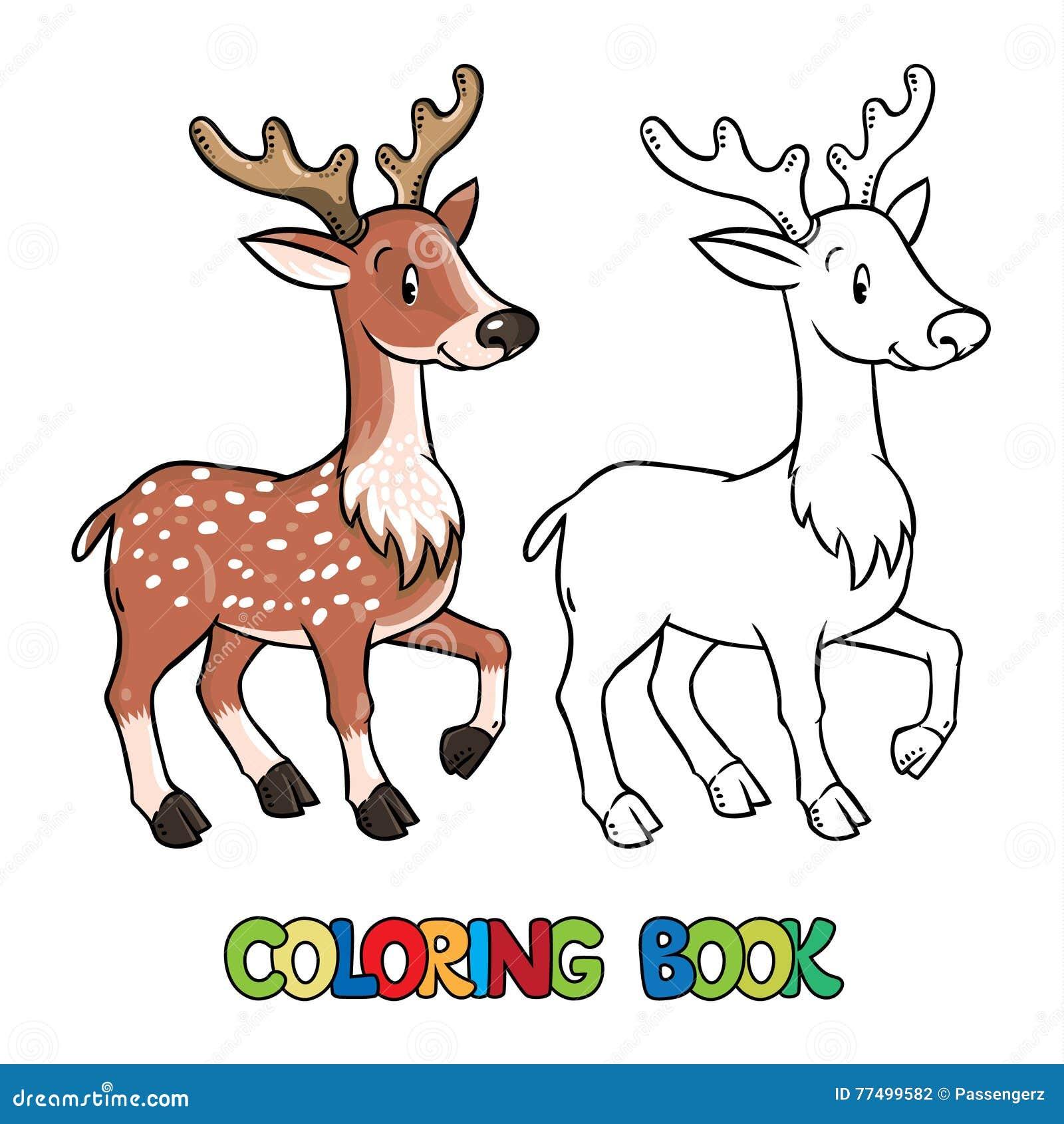 Coloriage Bebe Cerf.Livre De Coloriage Cerfs Communs Ou Faon Droles De Lttle De Jeunes