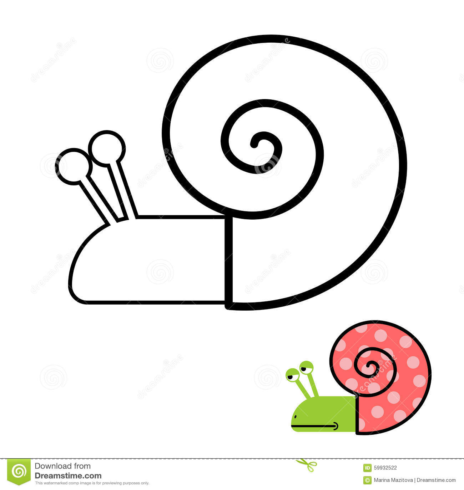 Coloriage Descargot.Livre De Coloriage D Escargot Palourde De Gasteropodes Avec La