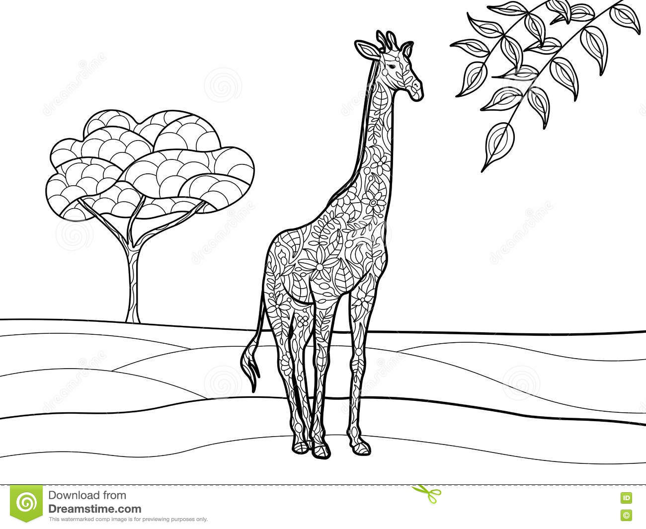 Coloriage Voiture Girafe.Coloriage Adulte Girafe