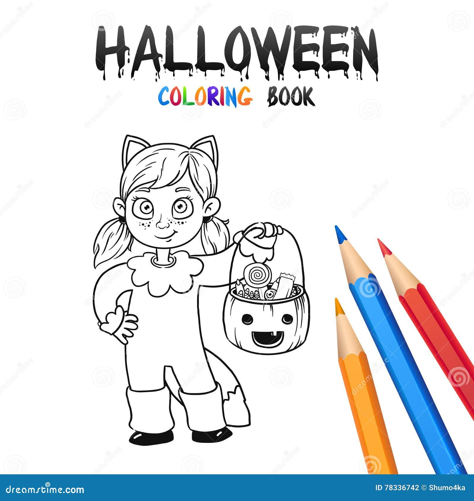 Livre De Coloriage De Halloween Personnage De Dessin Anime