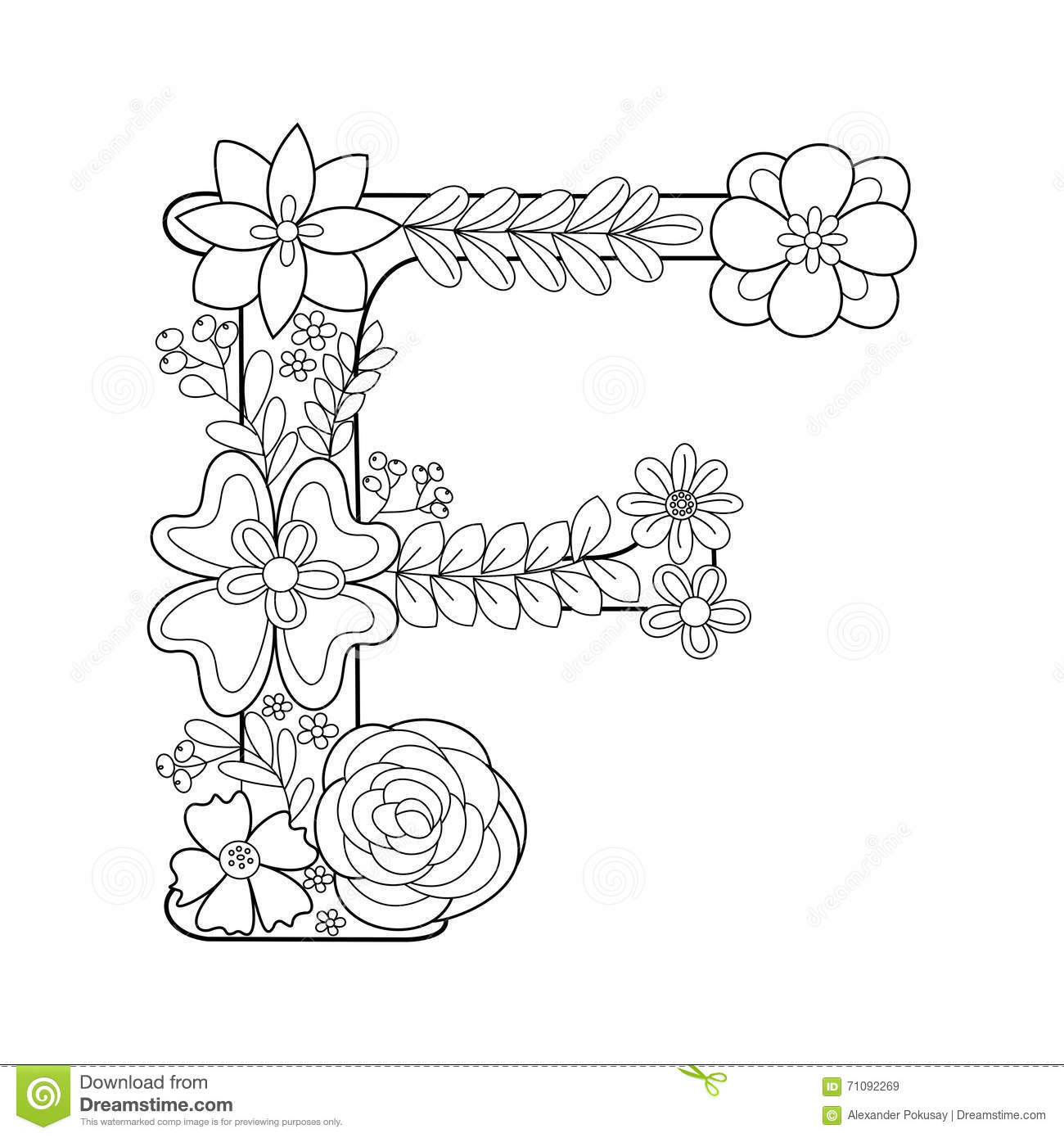 coloring pages for letter p download