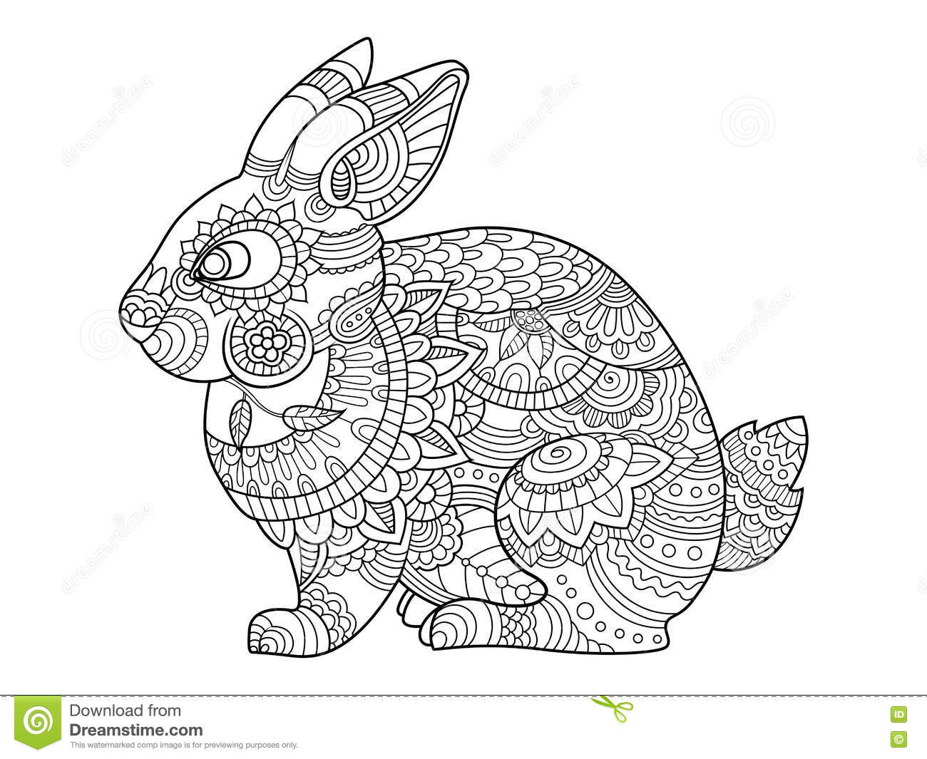 Coloriage Anti Stress Lapin.Coloriage Adulte Lapin