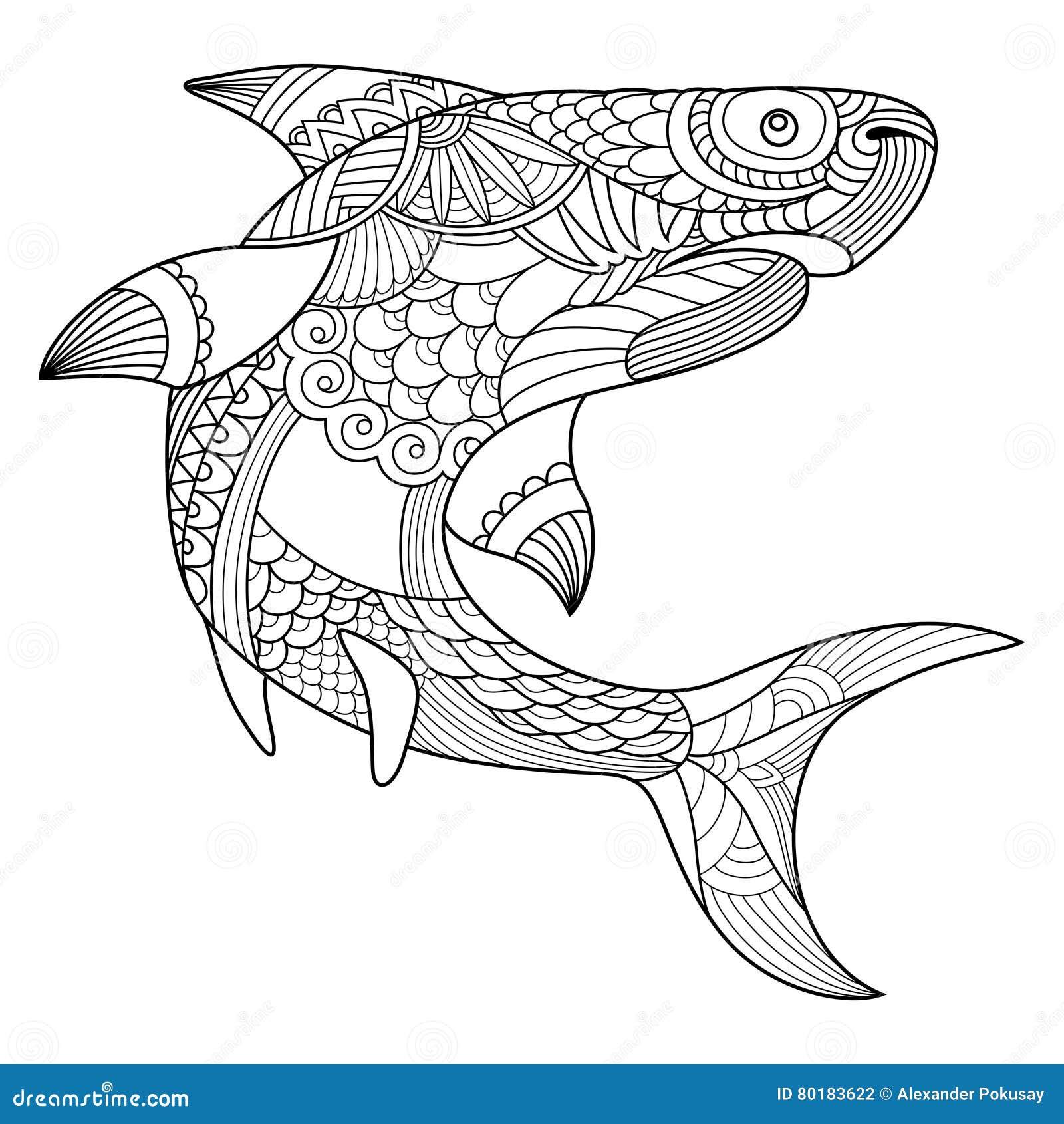 Coloriage Grand Requin Blanc | Meilleur COLORIAGE Pour Les ...
