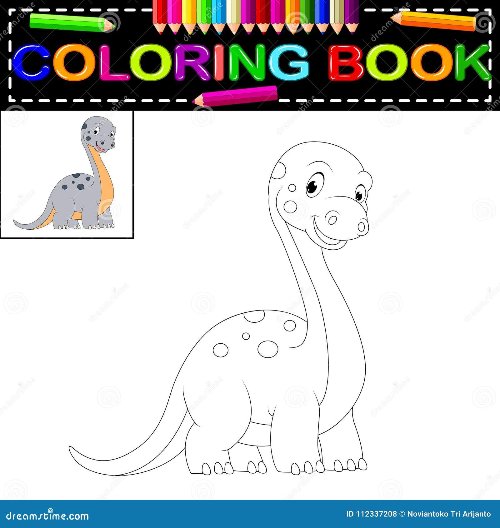 Coloriage Dinosaure Fossiles.Livre De Coloriage De Dinosaure Illustration De Vecteur