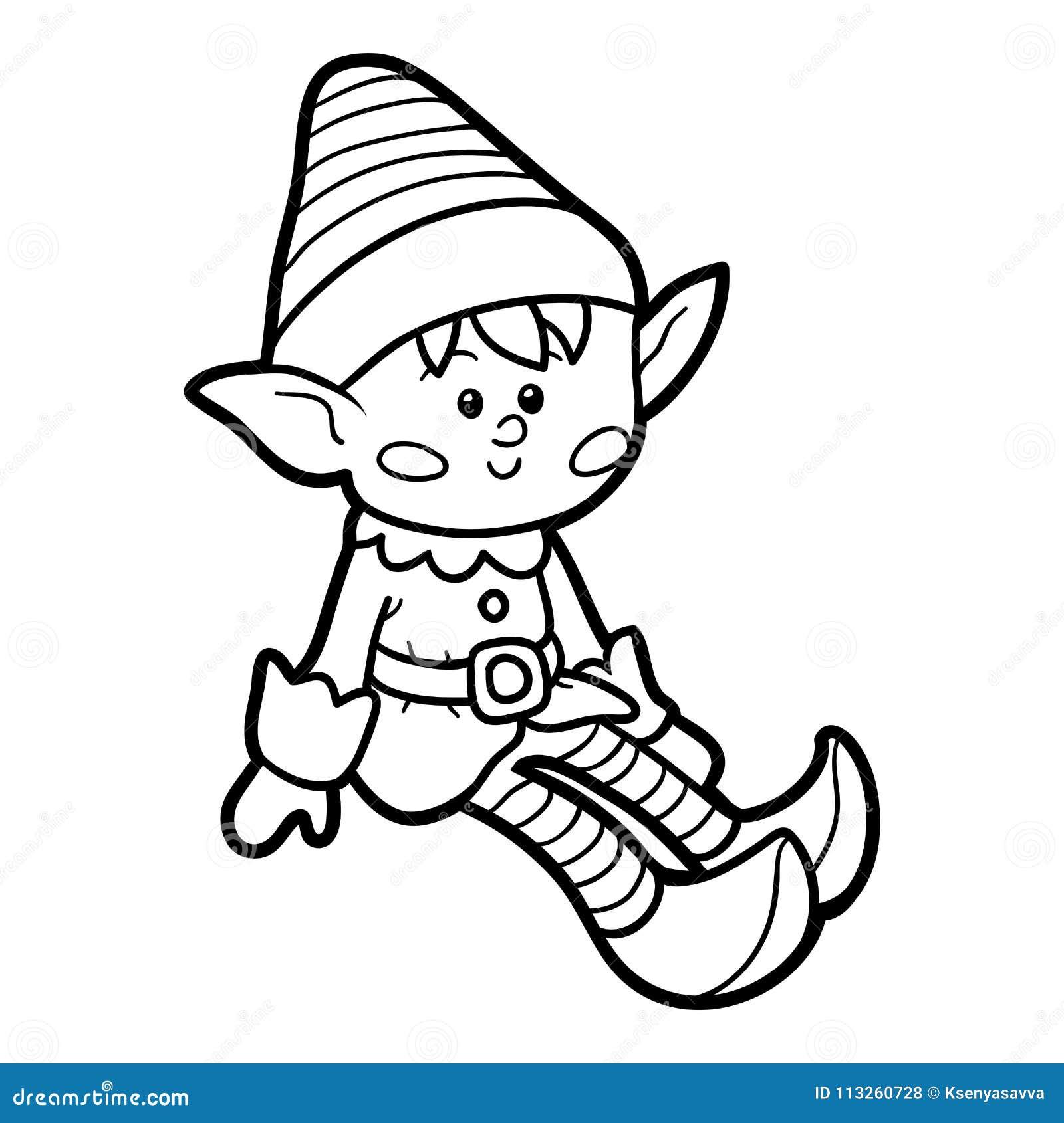 Livre de coloriage, Elf