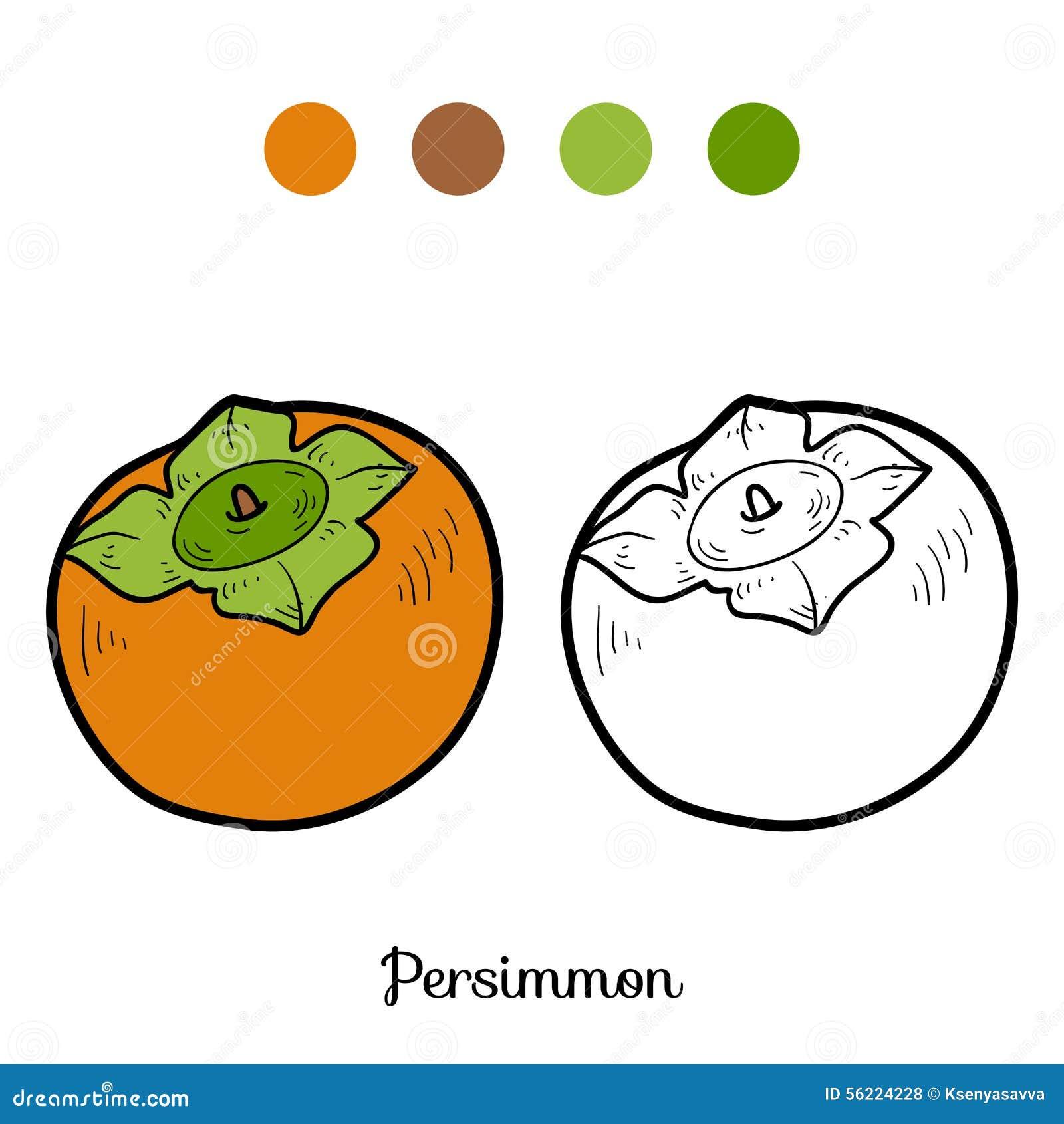 Livre De Coloriage Fruits Et Legumes Poireau Illustration De