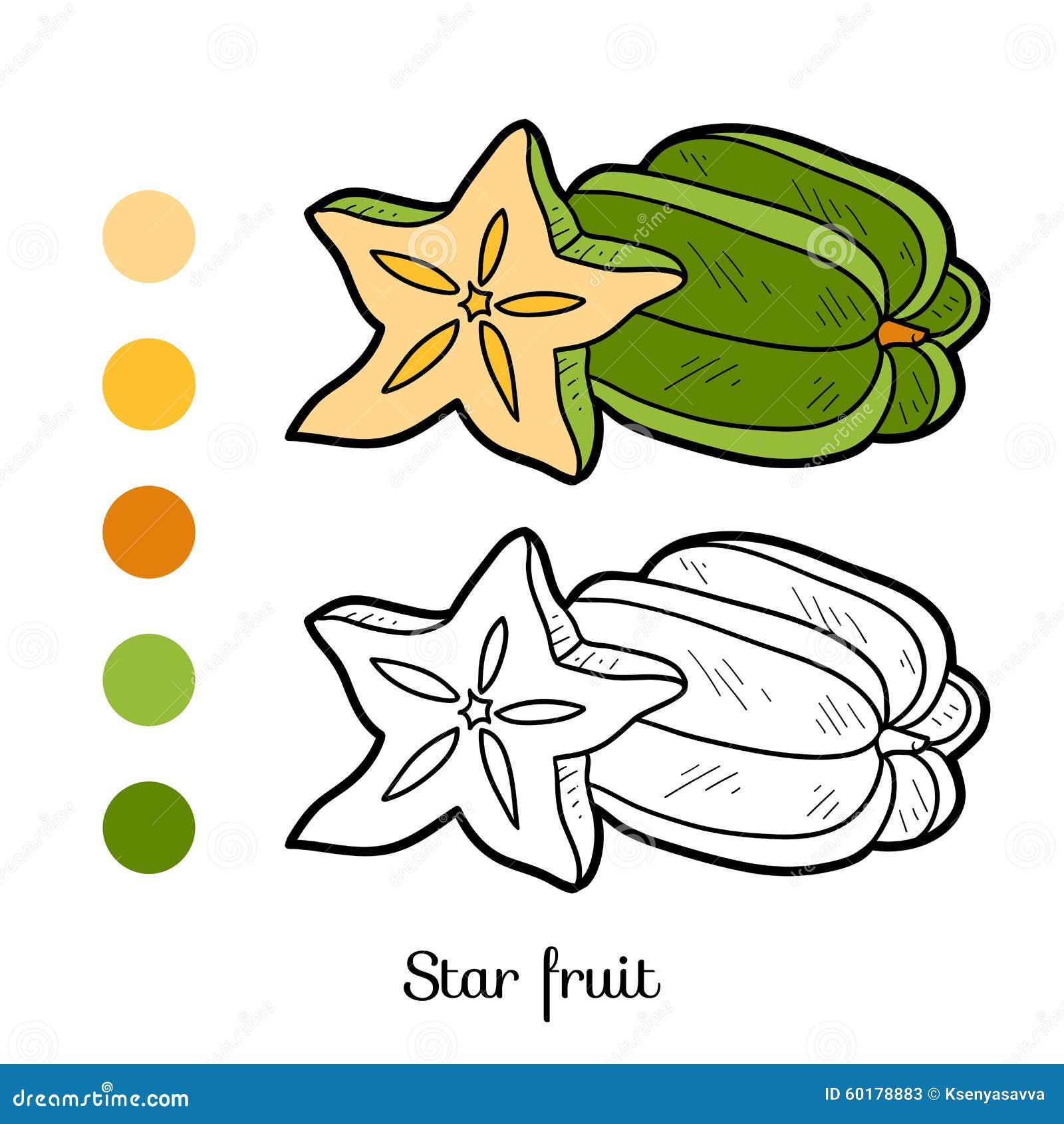 Livre de coloriage fruits et l gumes fruit d 39 toile illustration de vecteur image 60178883 - Grenade fruit dessin ...