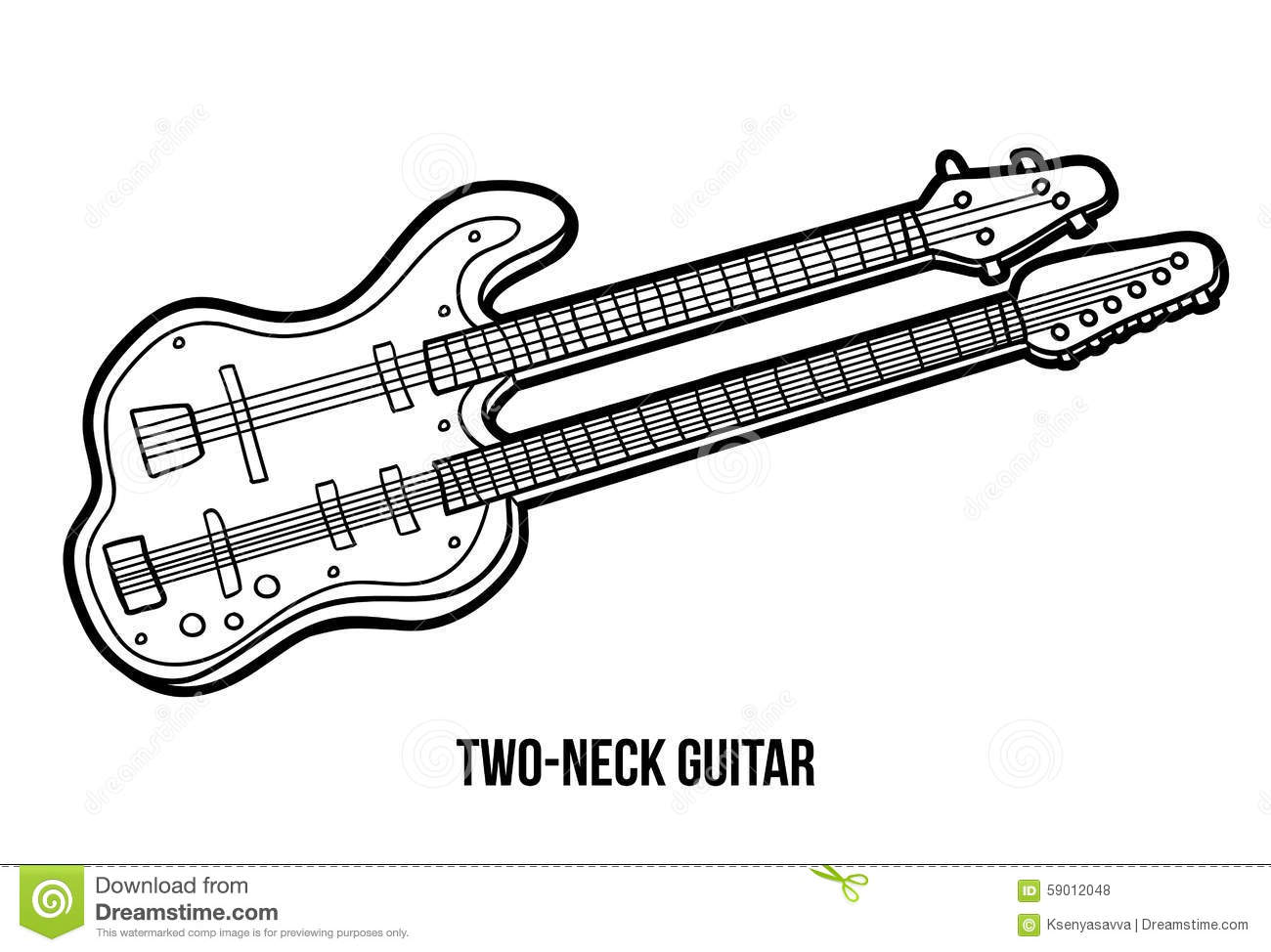 coloring page guitar without strings sketch coloring page. Black Bedroom Furniture Sets. Home Design Ideas