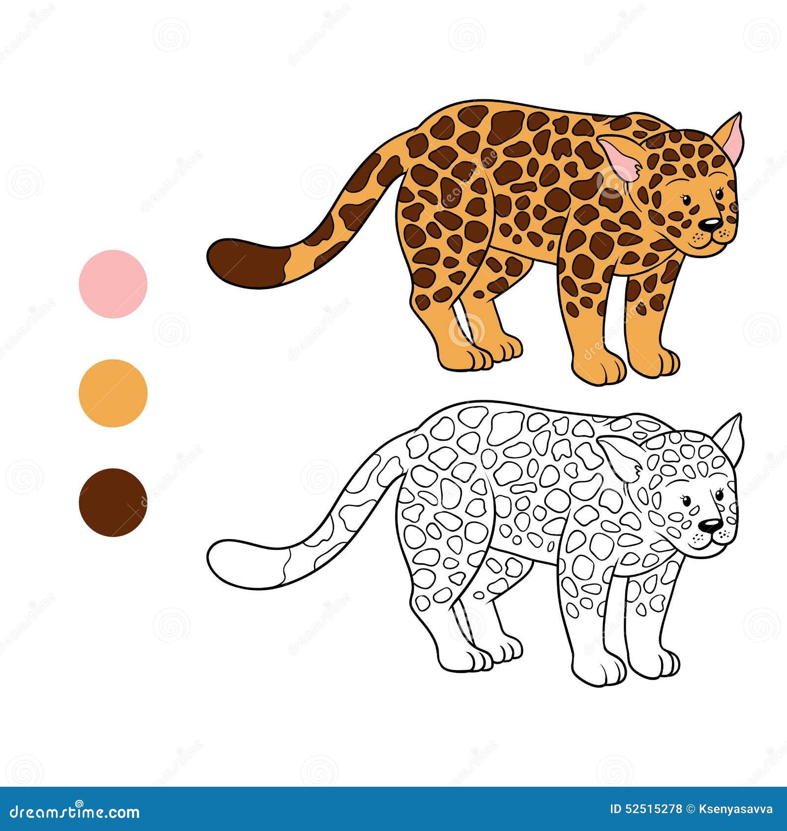 Livre de coloriage jaguar illustration de vecteur - Jaguar dessin ...