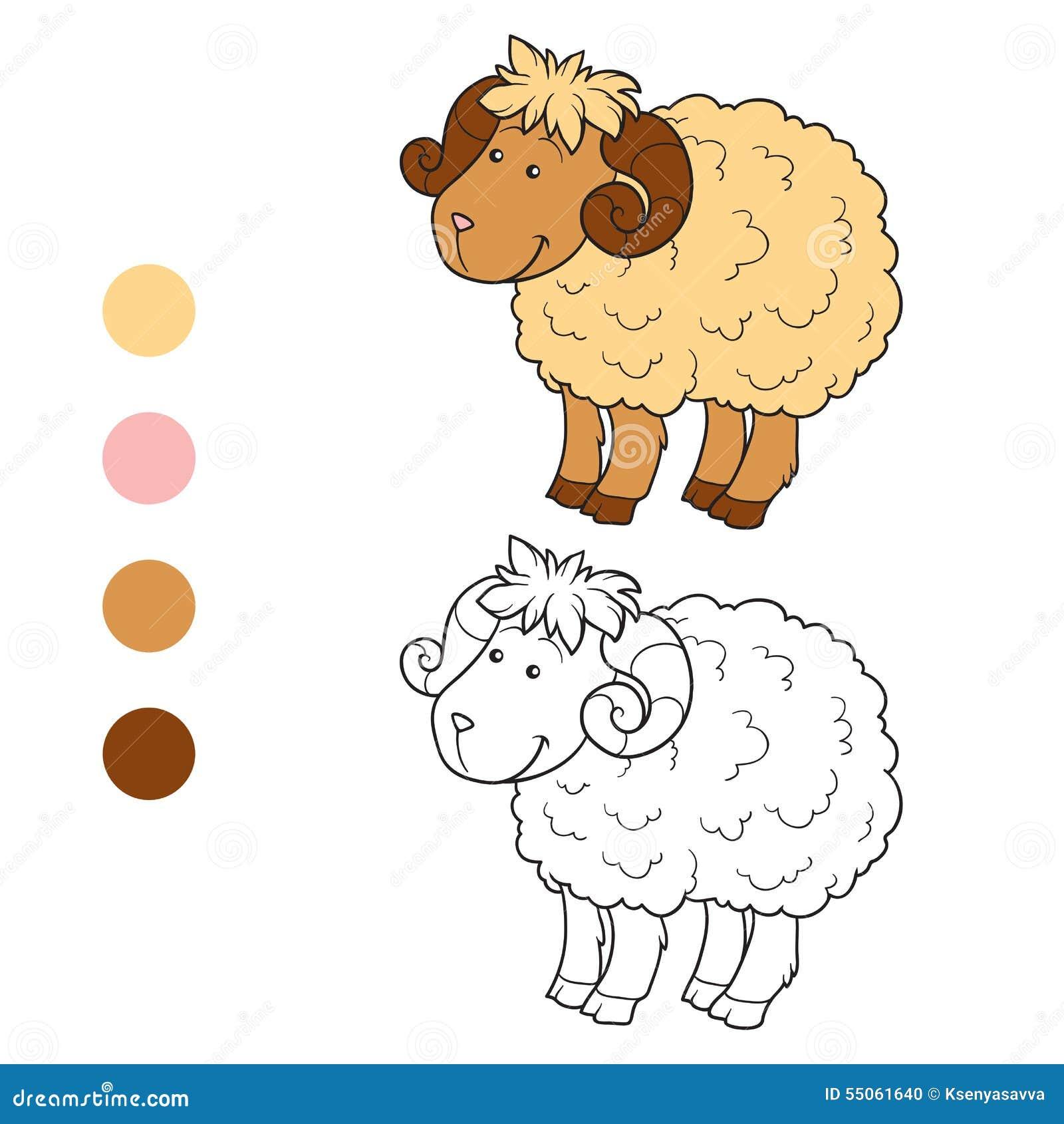 Livre De Coloriage Moutons Illustration De Vecteur