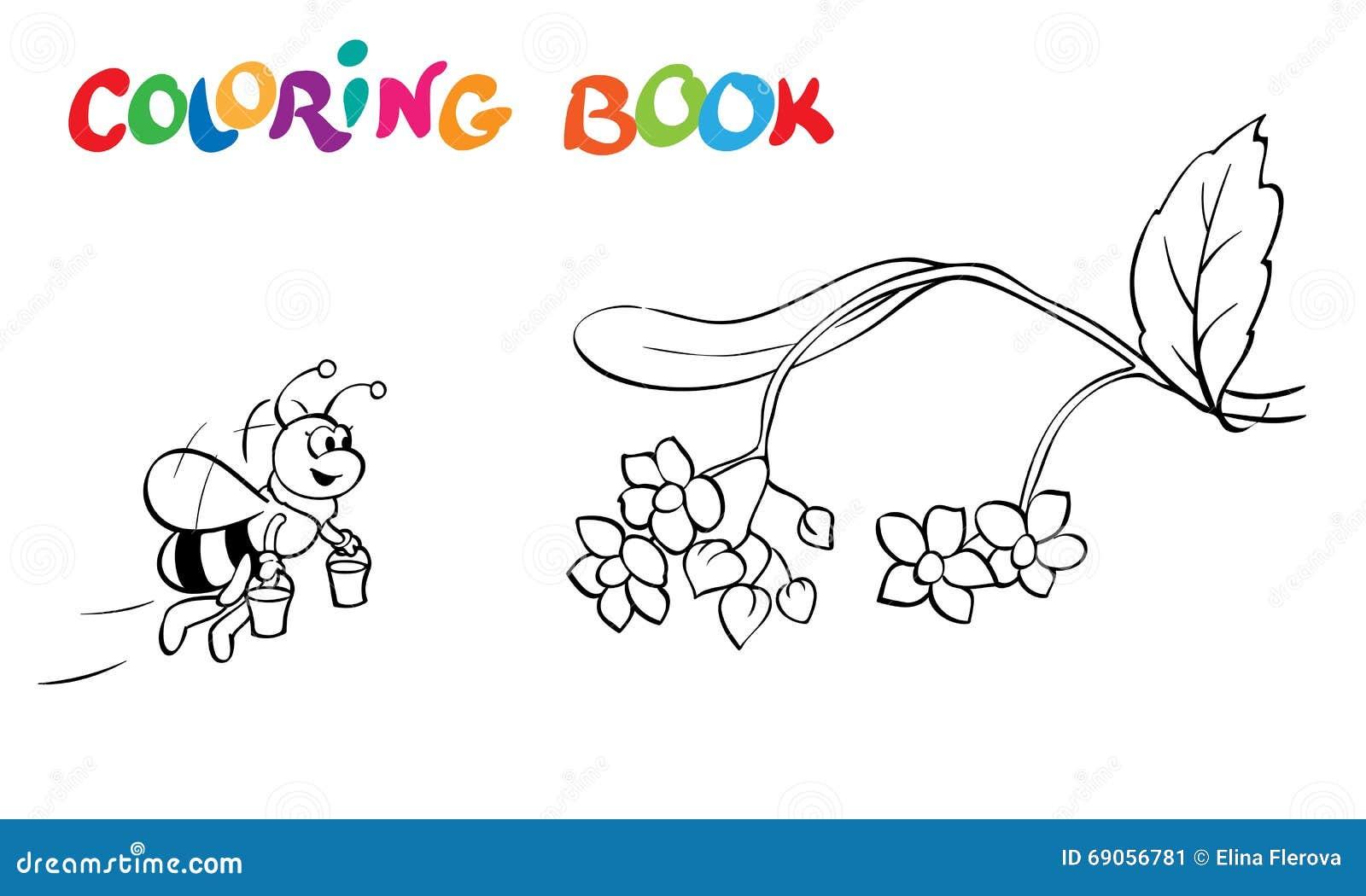 Coloriage Fleur Abeille.Livre De Coloriage Ou Page Abeille Et Fleurs De Fanny