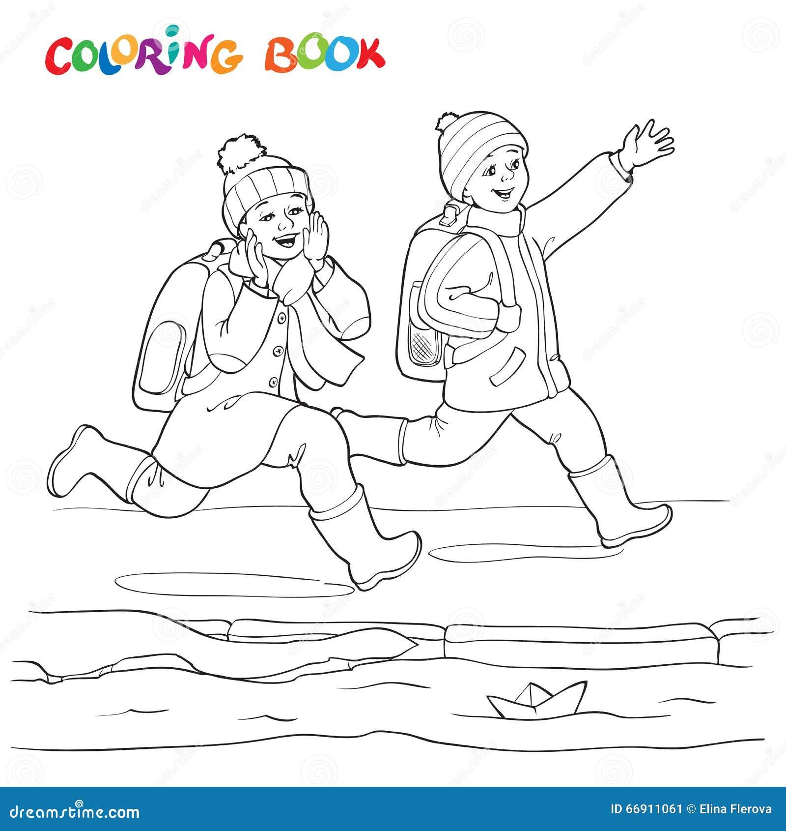 Coloriage Princesse Lina.Livre De Coloriage Ou Page Garcon Deux Joyeux Courant Le