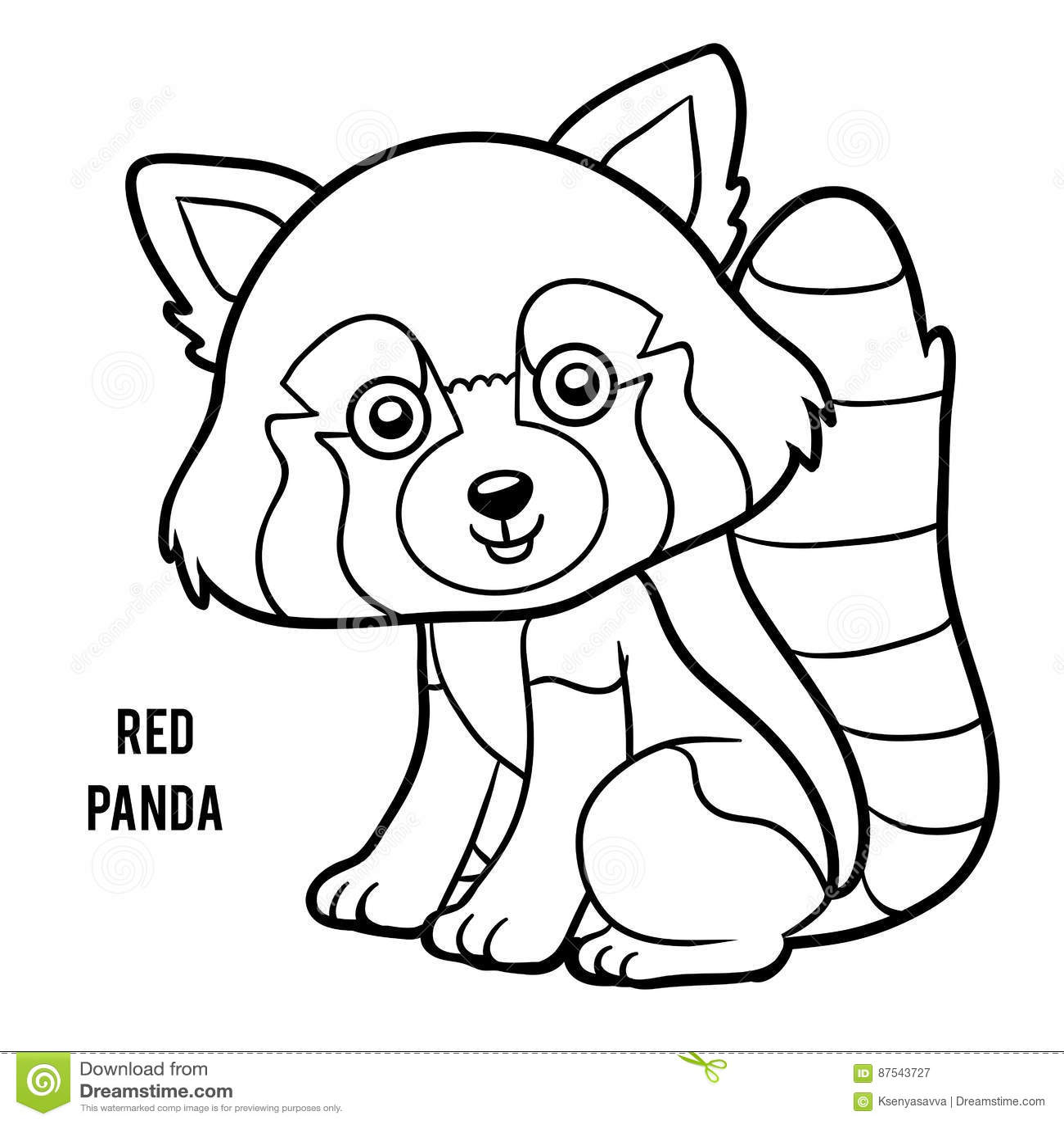Livre de coloriage panda rouge illustration de vecteur illustration du contour peinture - Coloriage info panda ...