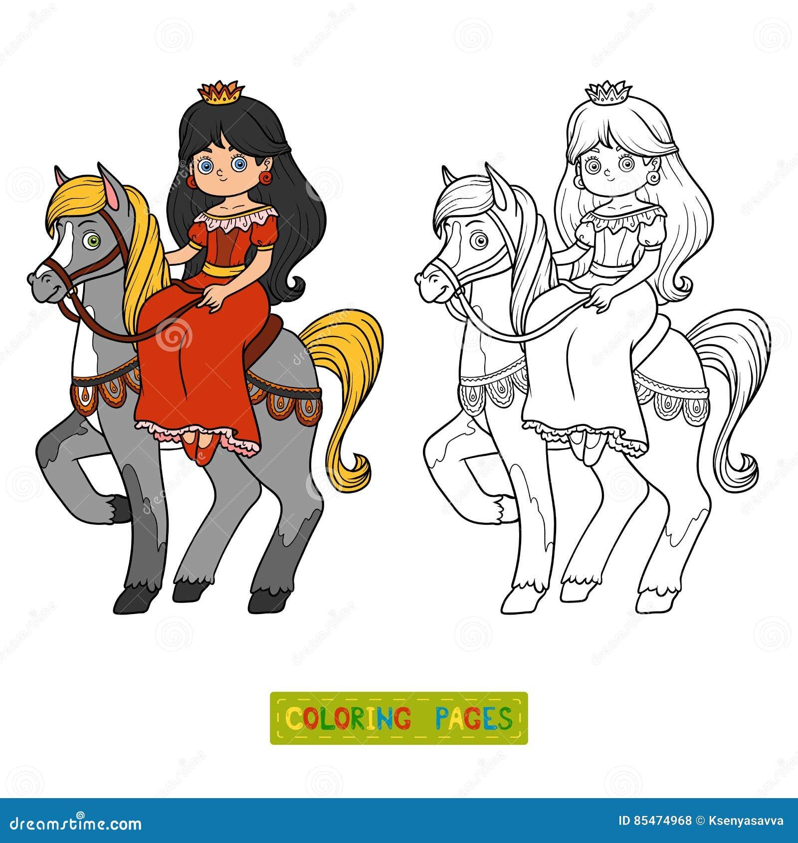 Livre De Coloriage Personnage De Dessin Animé Princesse