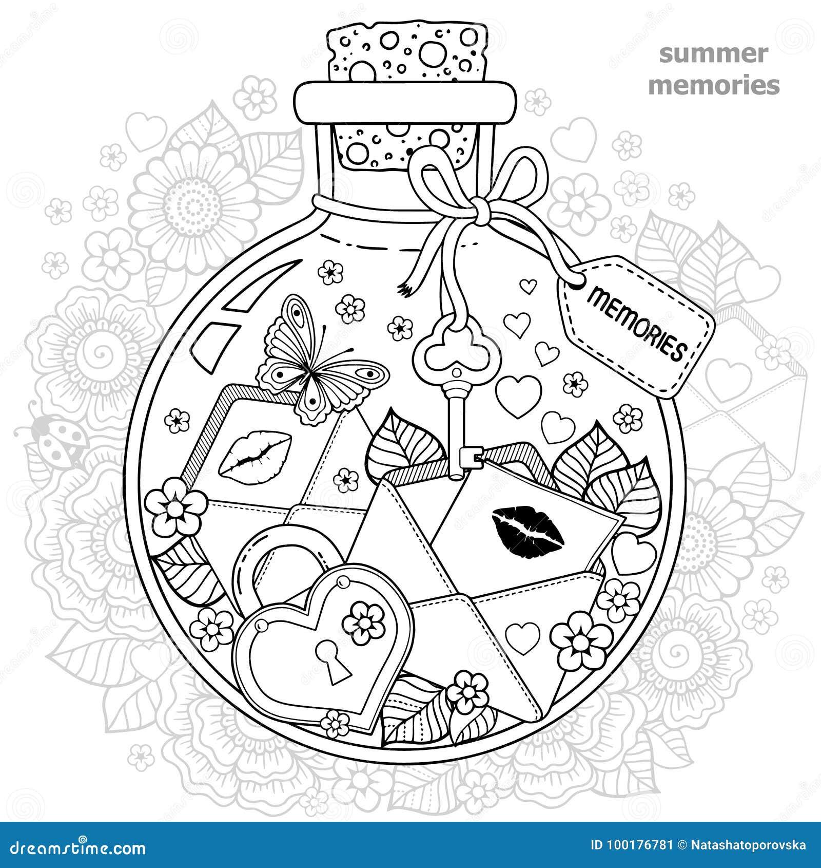 Coloriage Coccinelle Et Papillon.Livre De Coloriage Pour Des Adultes Un Navire En Verre Avec