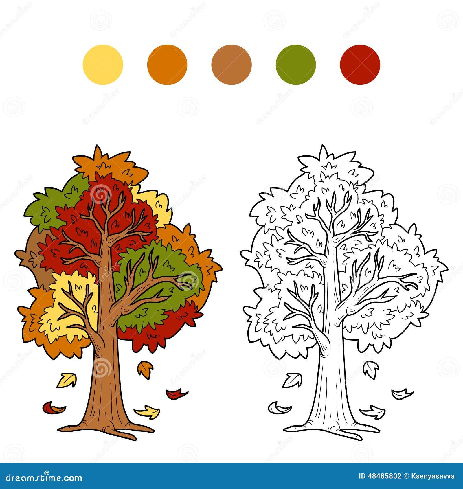 Livre de coloriage pour des enfants arbre d 39 automne illustration de vecteur illustration du - Coloriage arbre d automne ...
