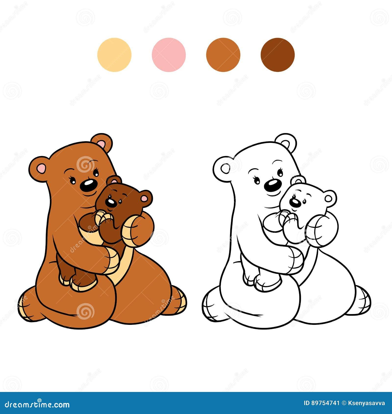Coloriage Famille Ours.Livre De Coloriage Pour Des Enfants Famille Des Ours