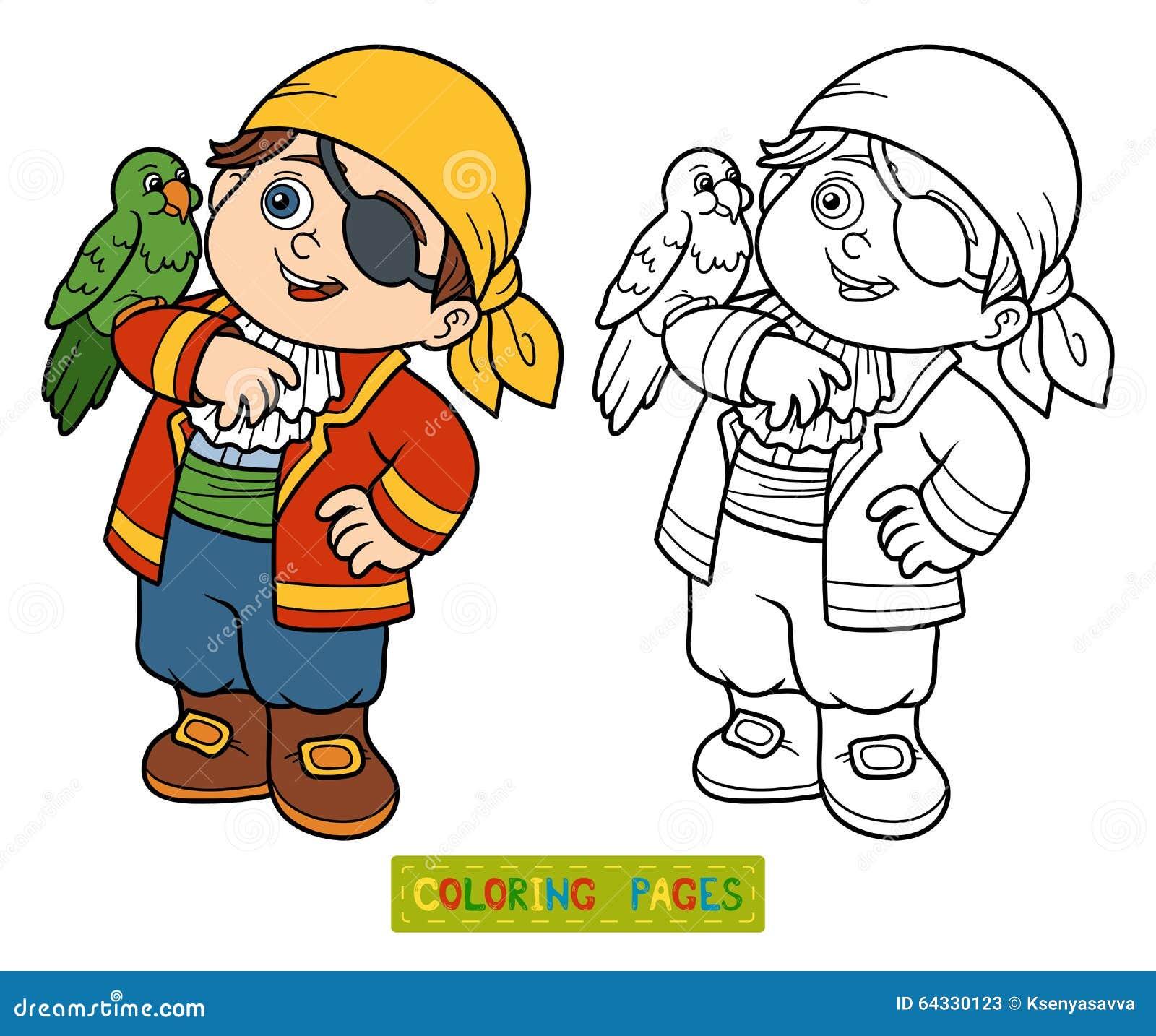 Livre de coloriage pour des enfants gar on de pirate illustration de vecteur image 64330123 - Dessin pour petit garcon ...