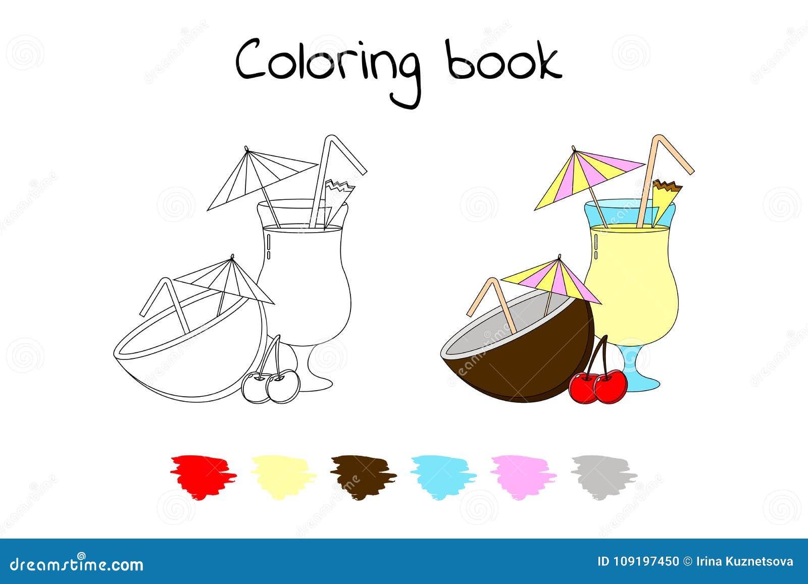 Livre De Coloriage Pour Des Enfants Illustration De Vecteur Pina C