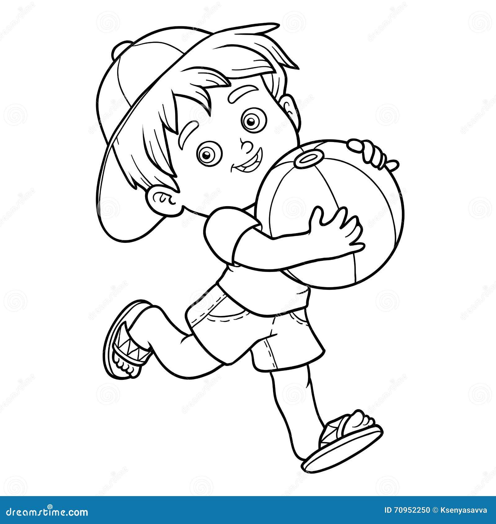 Livre de coloriage pour des enfants petit gar on avec la - Coloriage enfant garcon ...