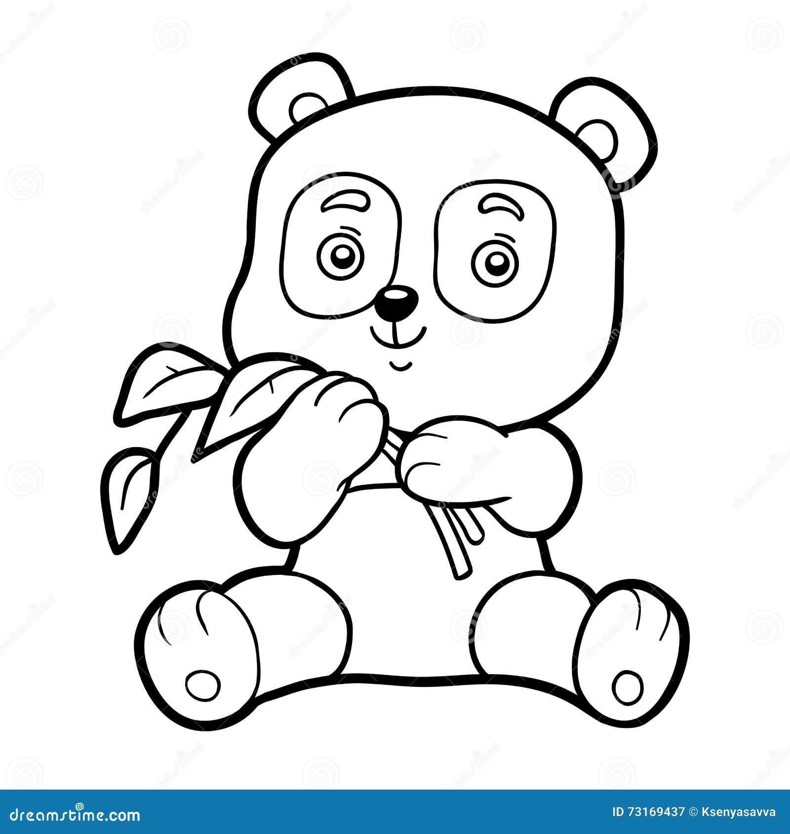 Livre de coloriage pour des enfants petit panda illustration de vecteur illustration du - Coloriage petit panda ...