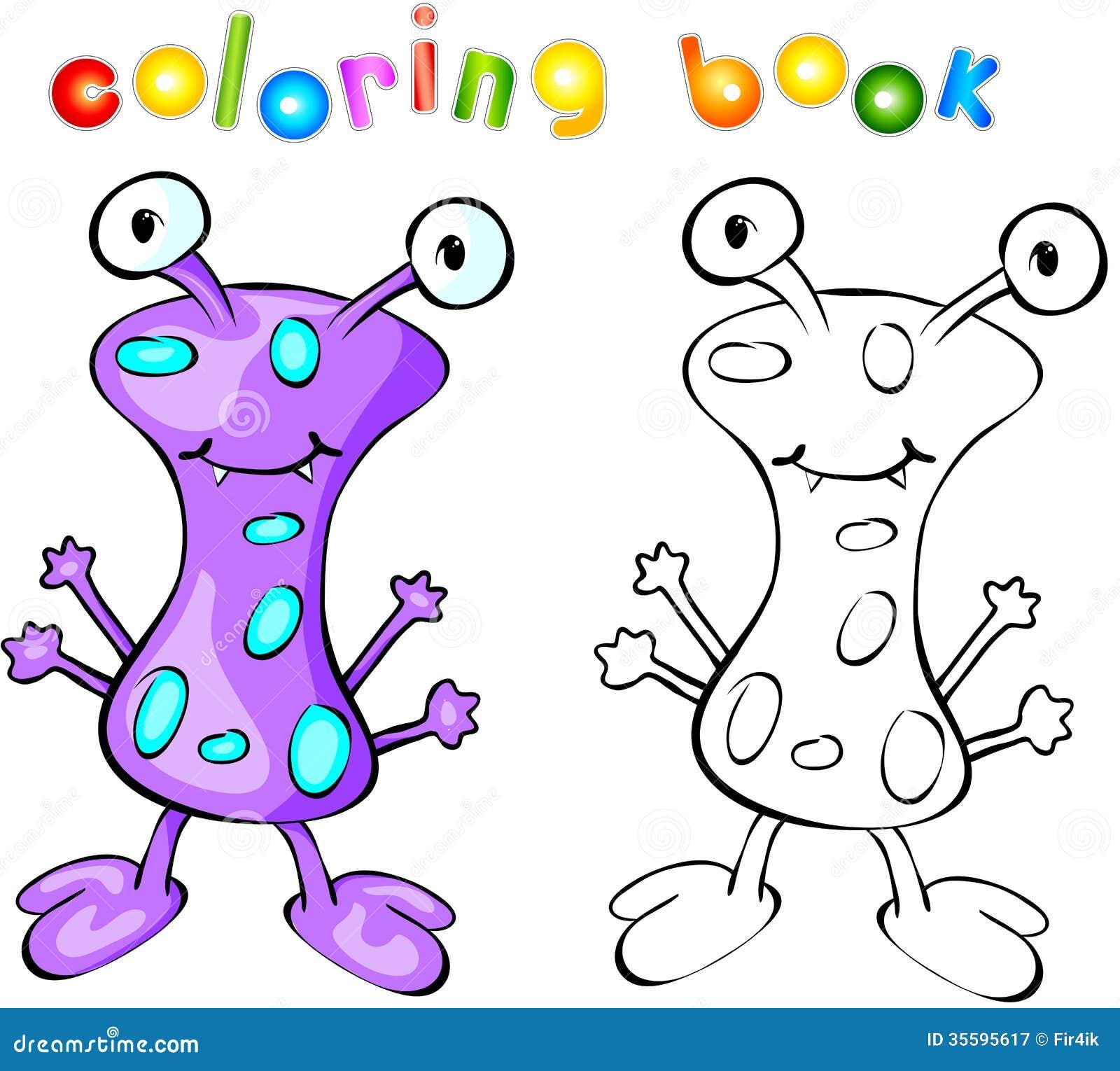 Livre De Coloriage Pourpre De Monstre Illustration De Vecteur