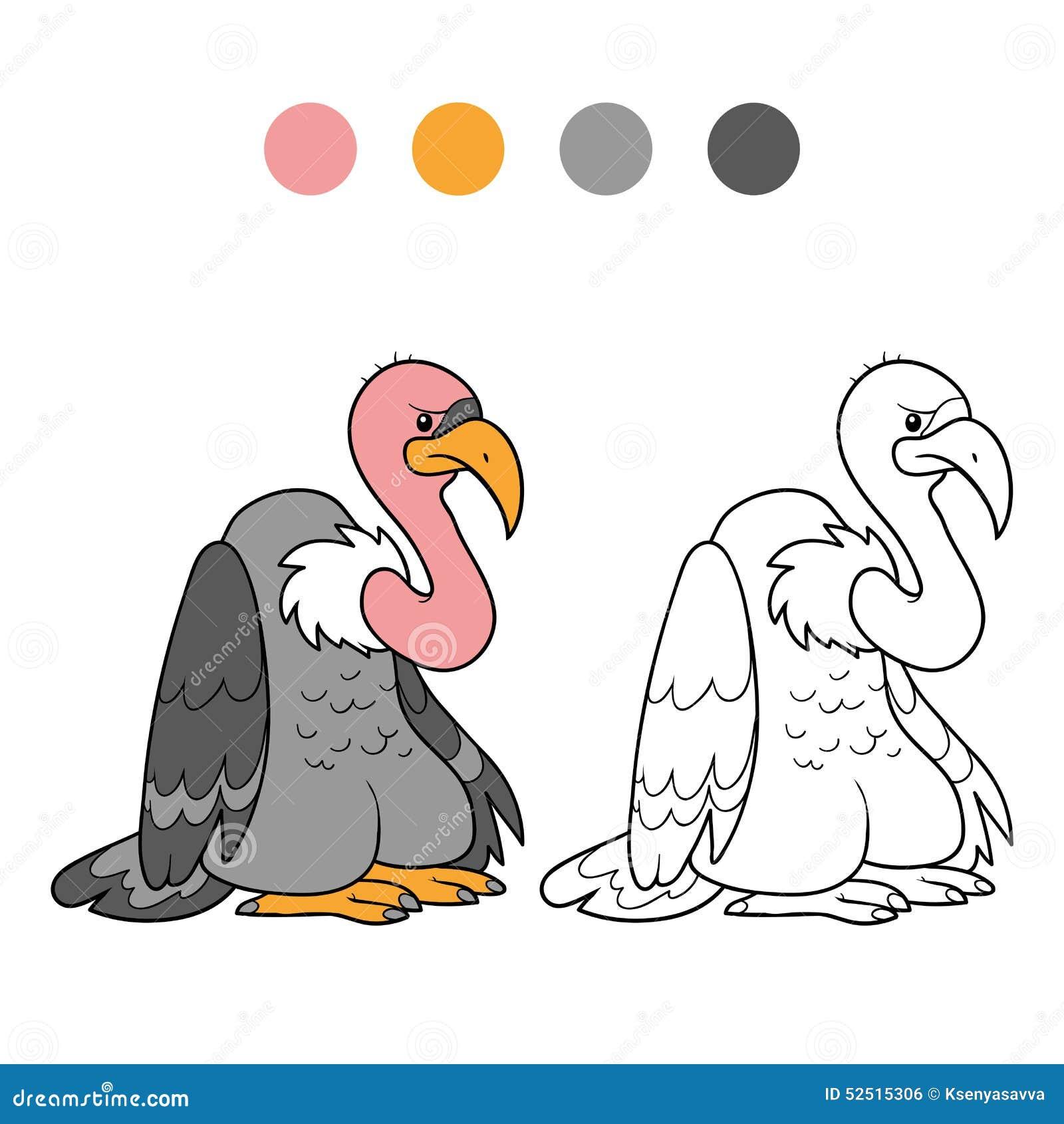 Livre De Coloriage Vautour Illustration De Vecteur