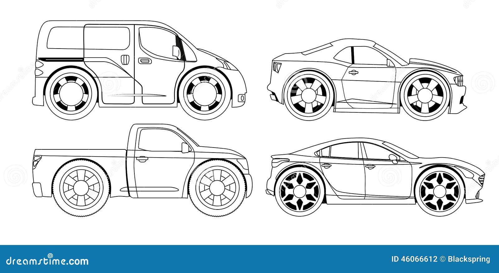 Livre de coloriage voitures stylis es r gl es illustration de vecteur illustration du - Coloriages voitures ...