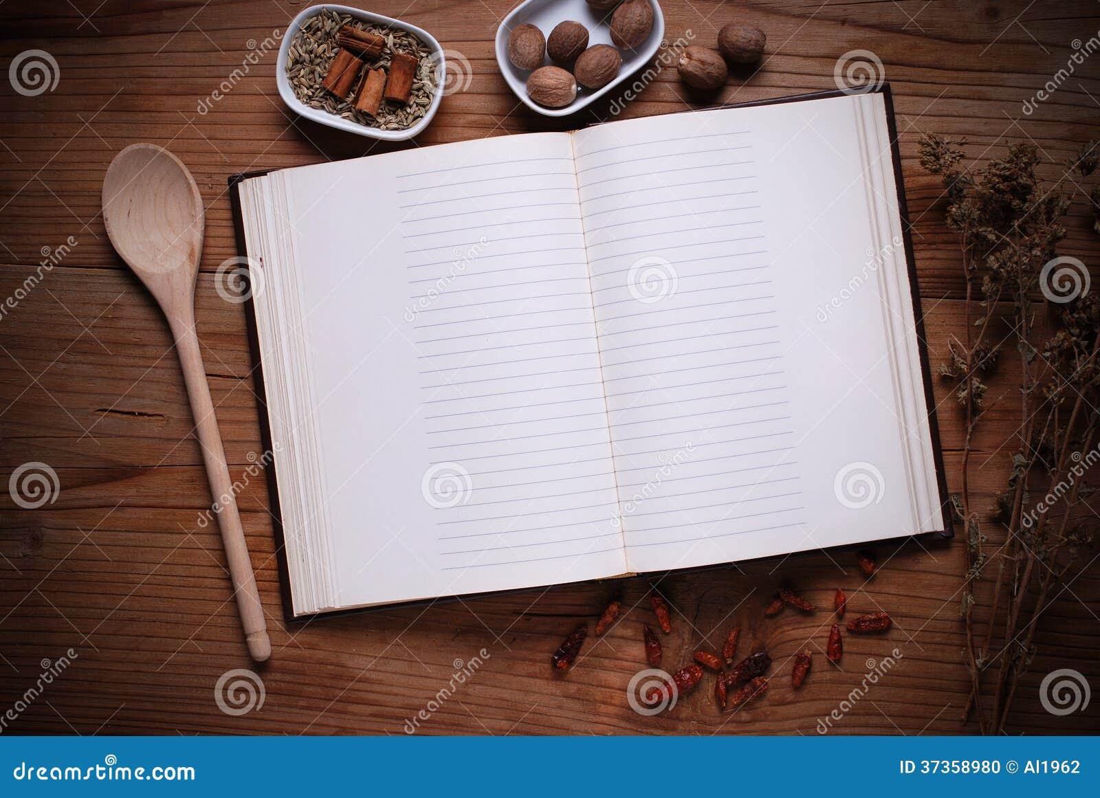 livre de cuisine sur la table photo stock image 37358980. Black Bedroom Furniture Sets. Home Design Ideas