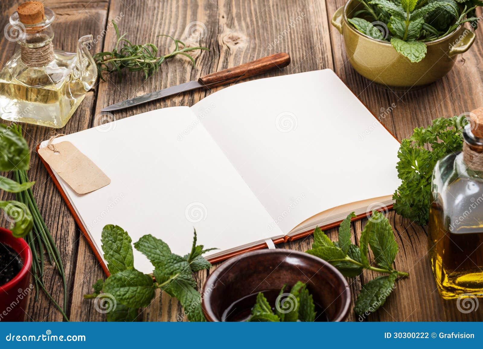 Livre de cuisine vide