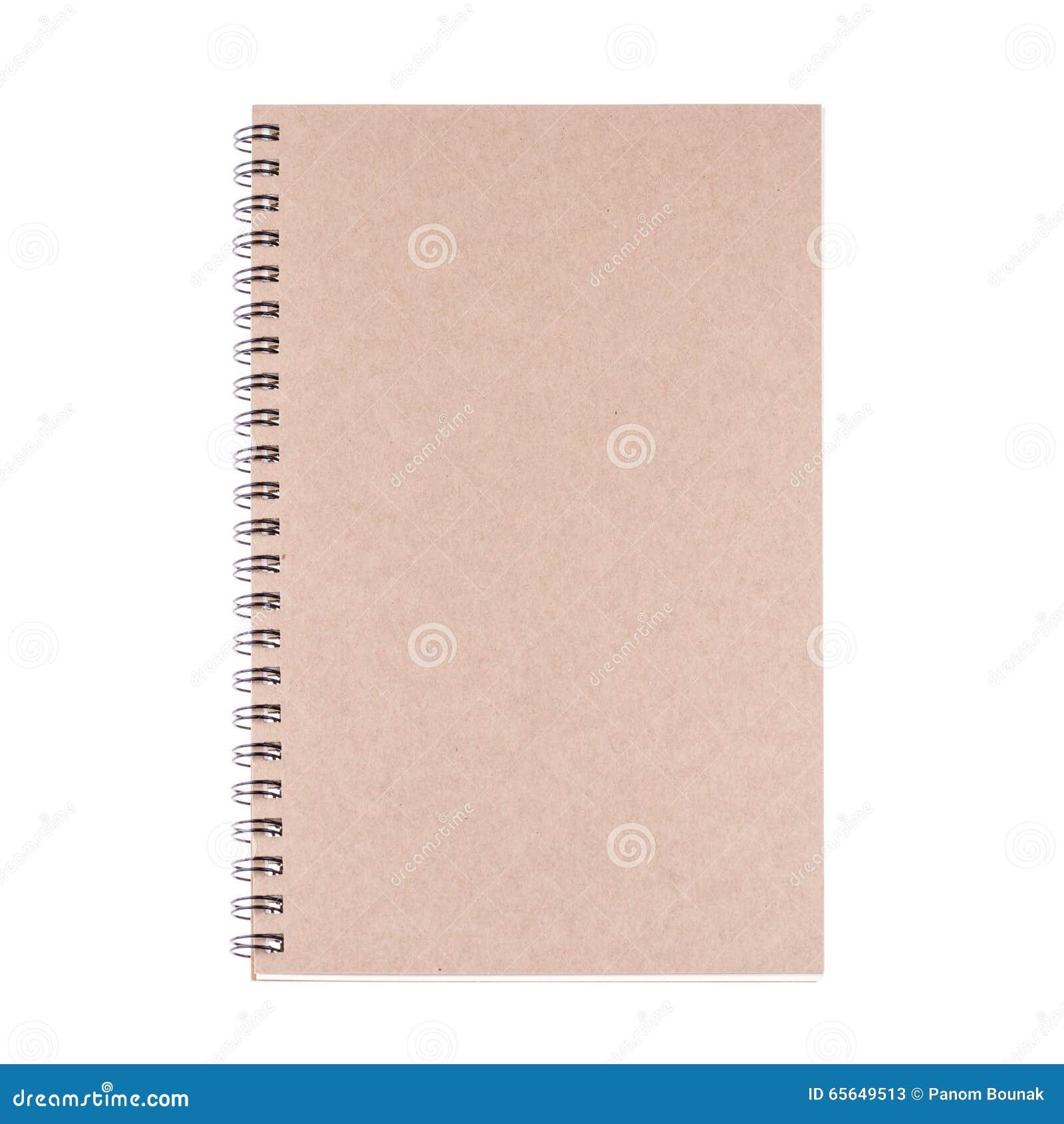 Livre de journal intime de vintage sur le fond blanc
