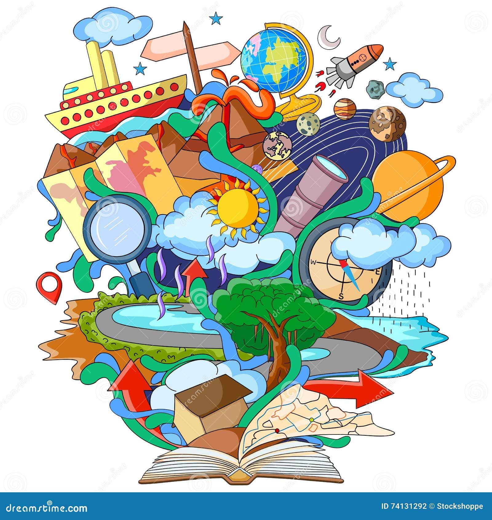 Livre de la connaissance pour la g ographie illustration for Art de la cuisine
