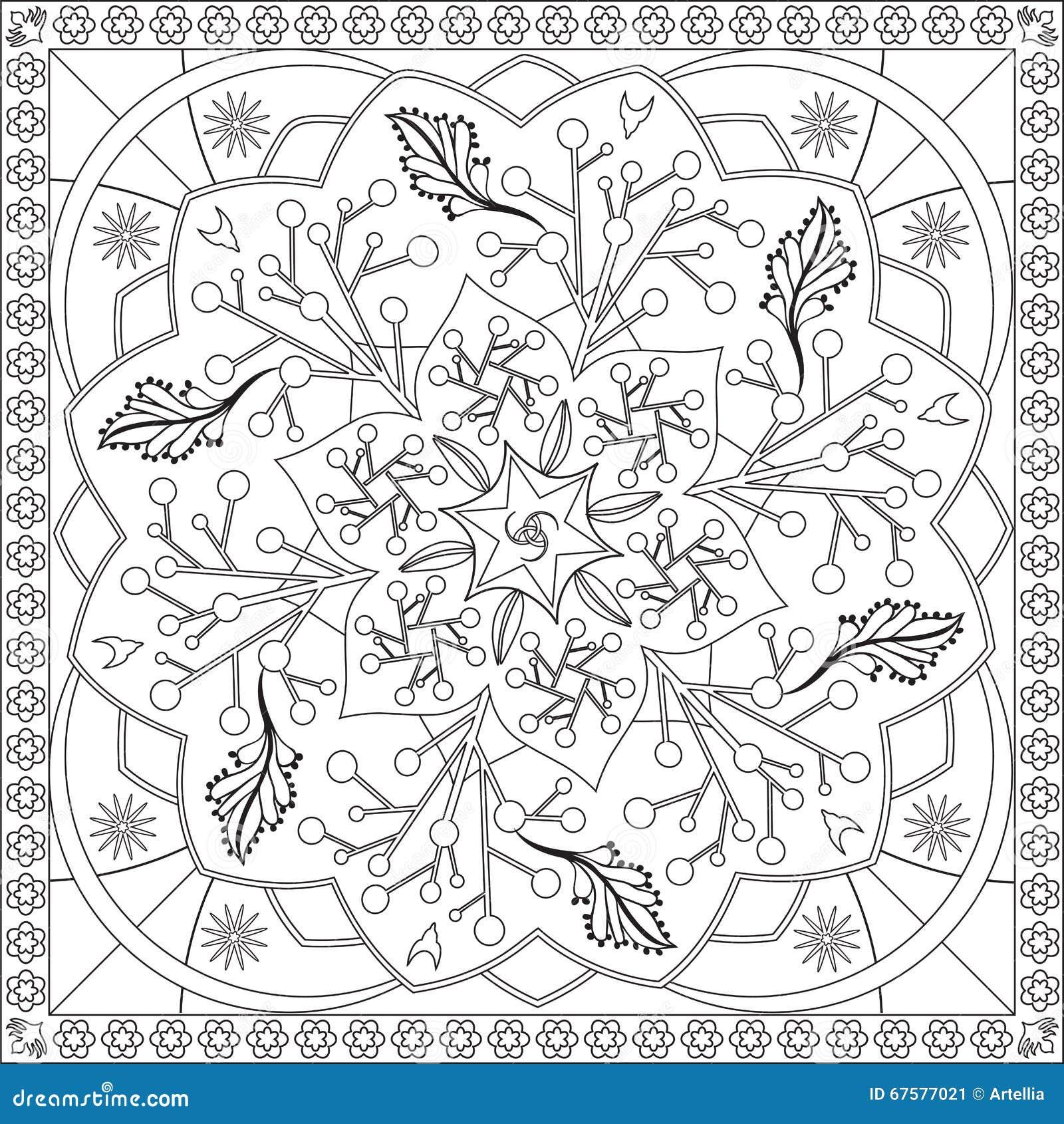 Livre De Page De Coloration Pour Le Format Carr 233 Mandala