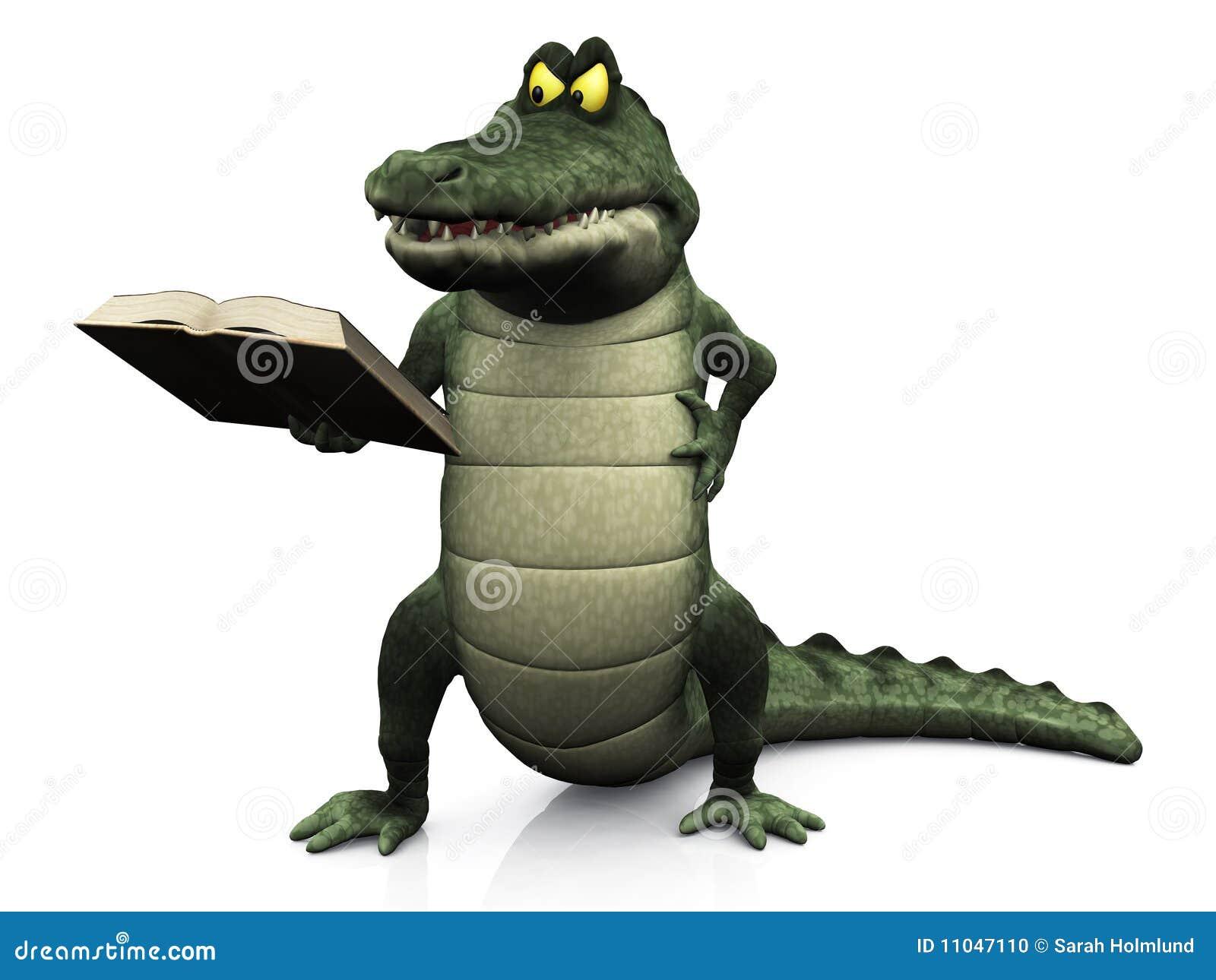 Livre de relev f ch de crocodile de dessin anim illustration stock illustration du bouche - Dessin anime crocodile ...