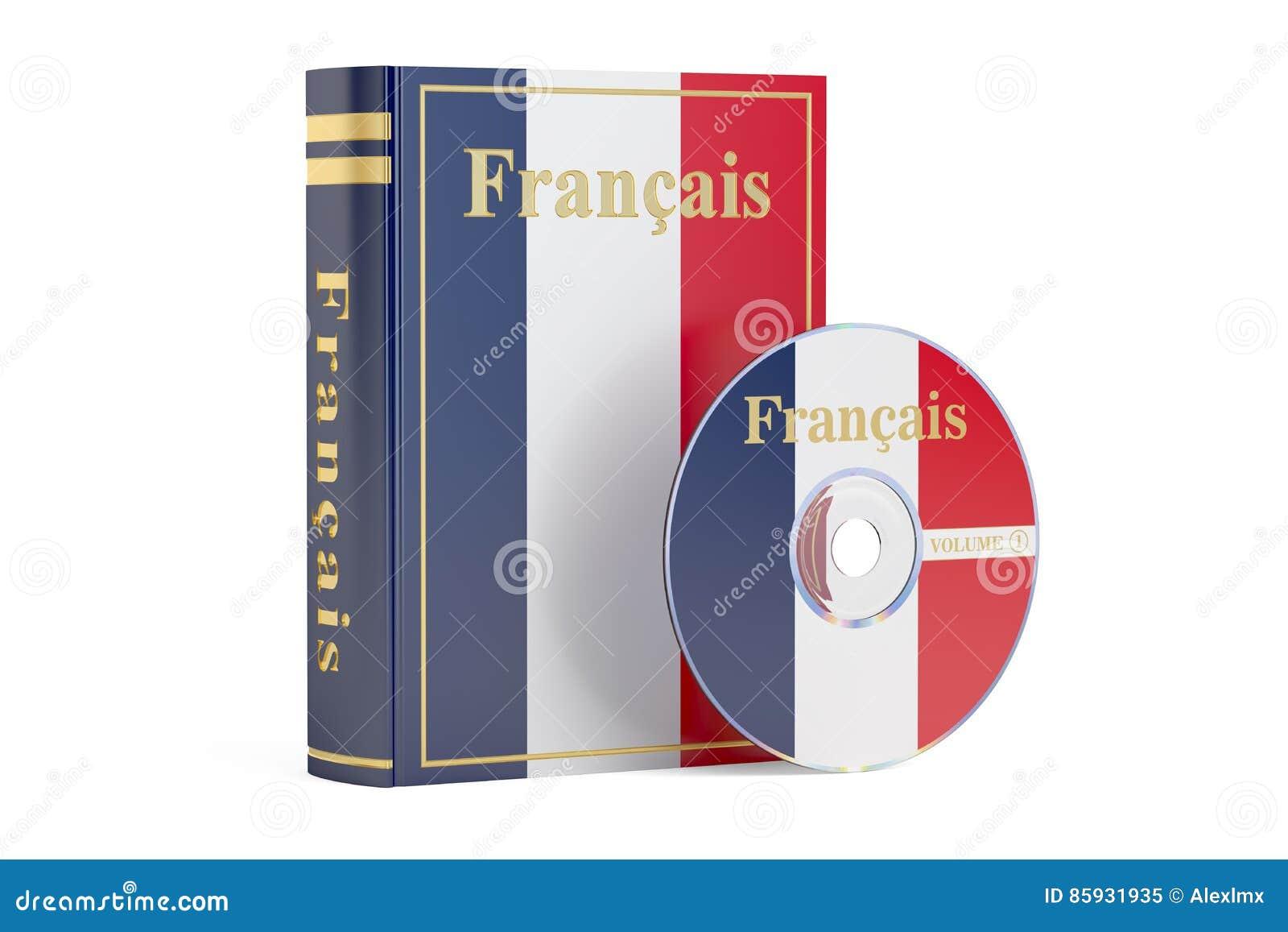 Livre Francais Avec Le Drapeau Des Frances Et Du Disque Cd