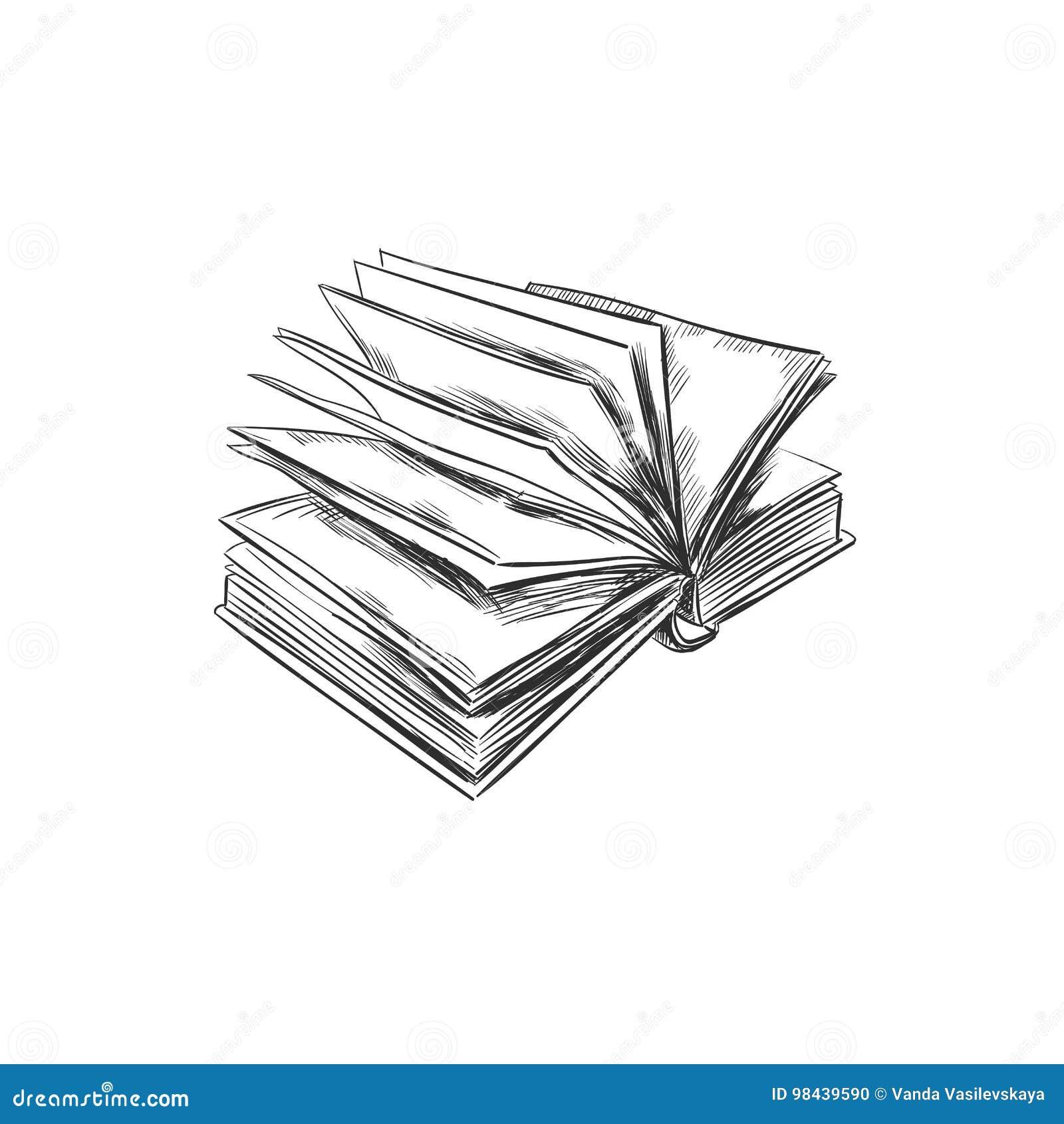 Livre Illustration Tiree Par La Main Type De Croquis