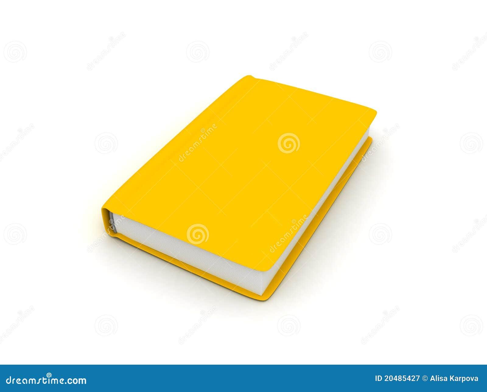 Livre Jaune Sur La Surface Blanche Illustration Stock