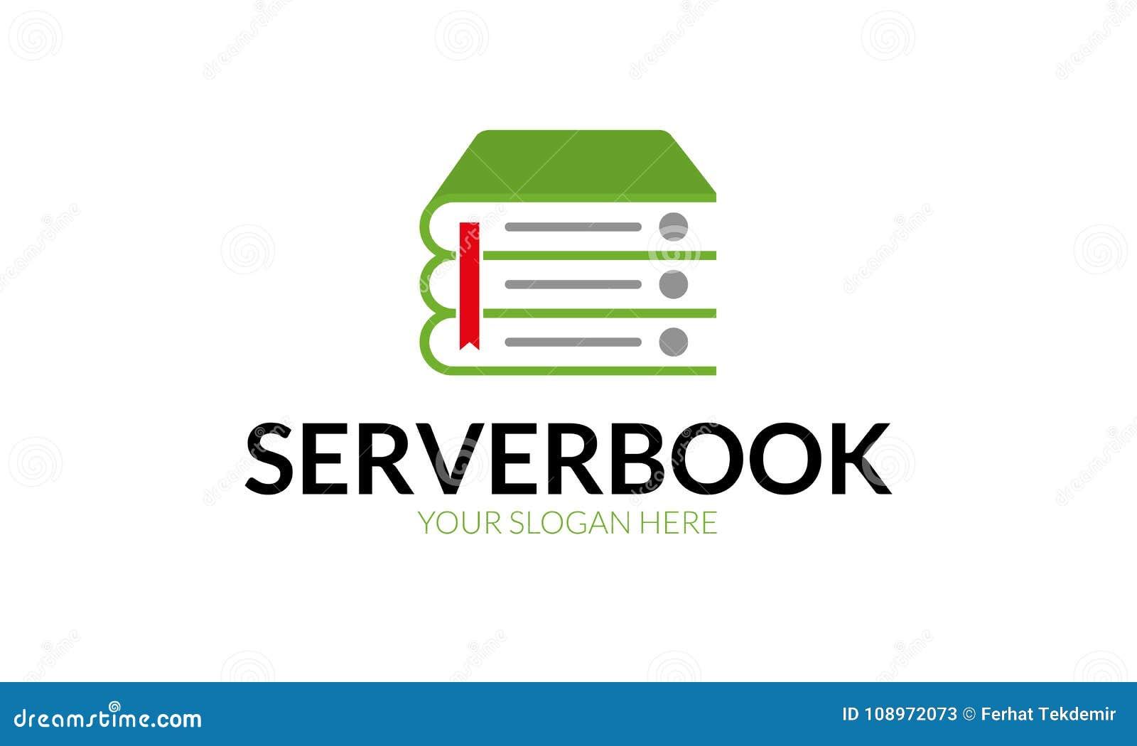 Livre Logo Template De Serveur Illustration De Vecteur