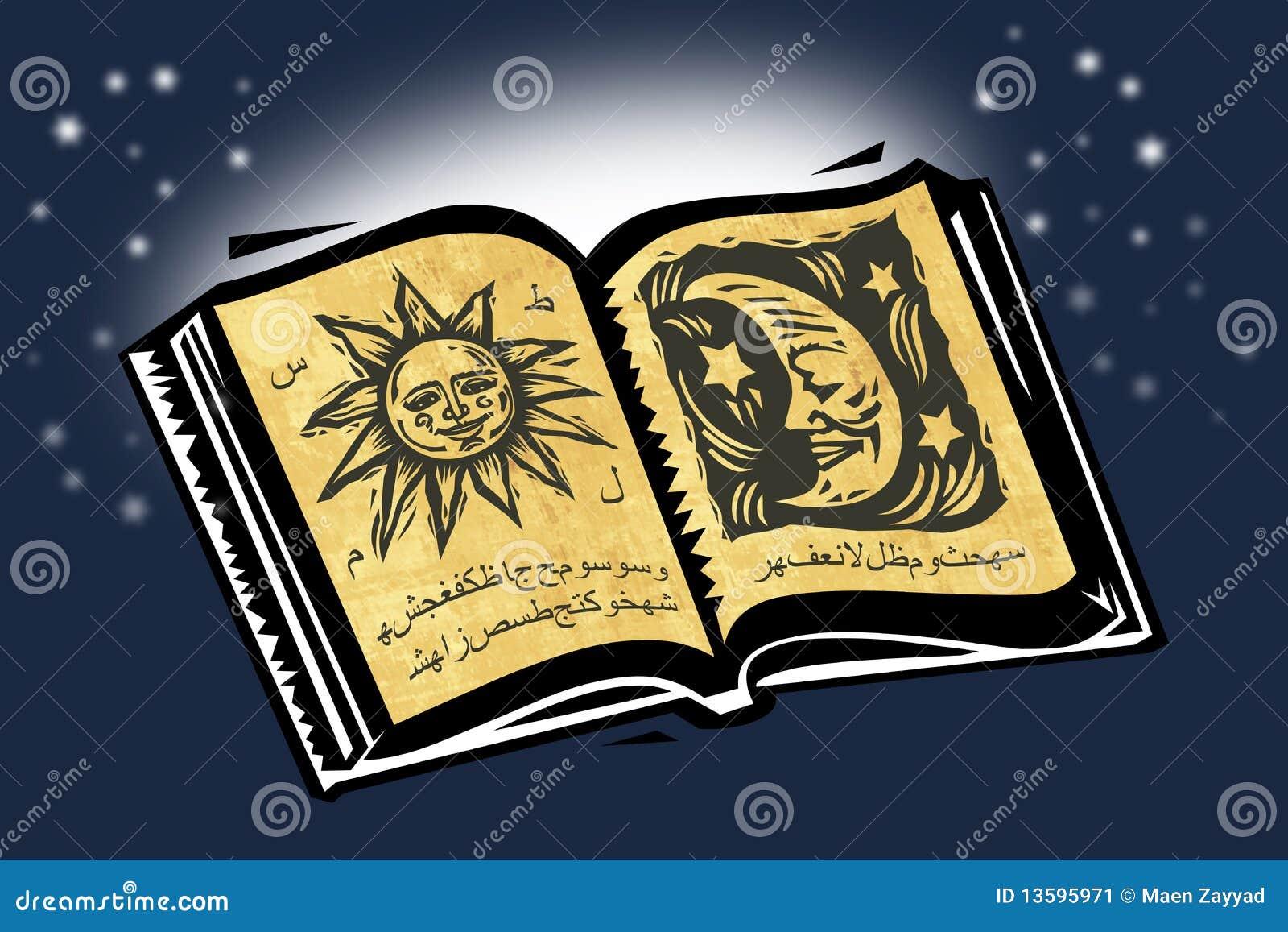 Livre magique illustration stock. Illustration du jaune