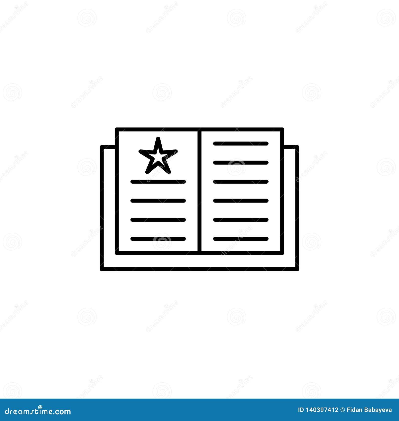 Livre magique, icône magique d ensemble d éducation Des signes et les symboles peuvent être employés pour le Web, logo, l appli m