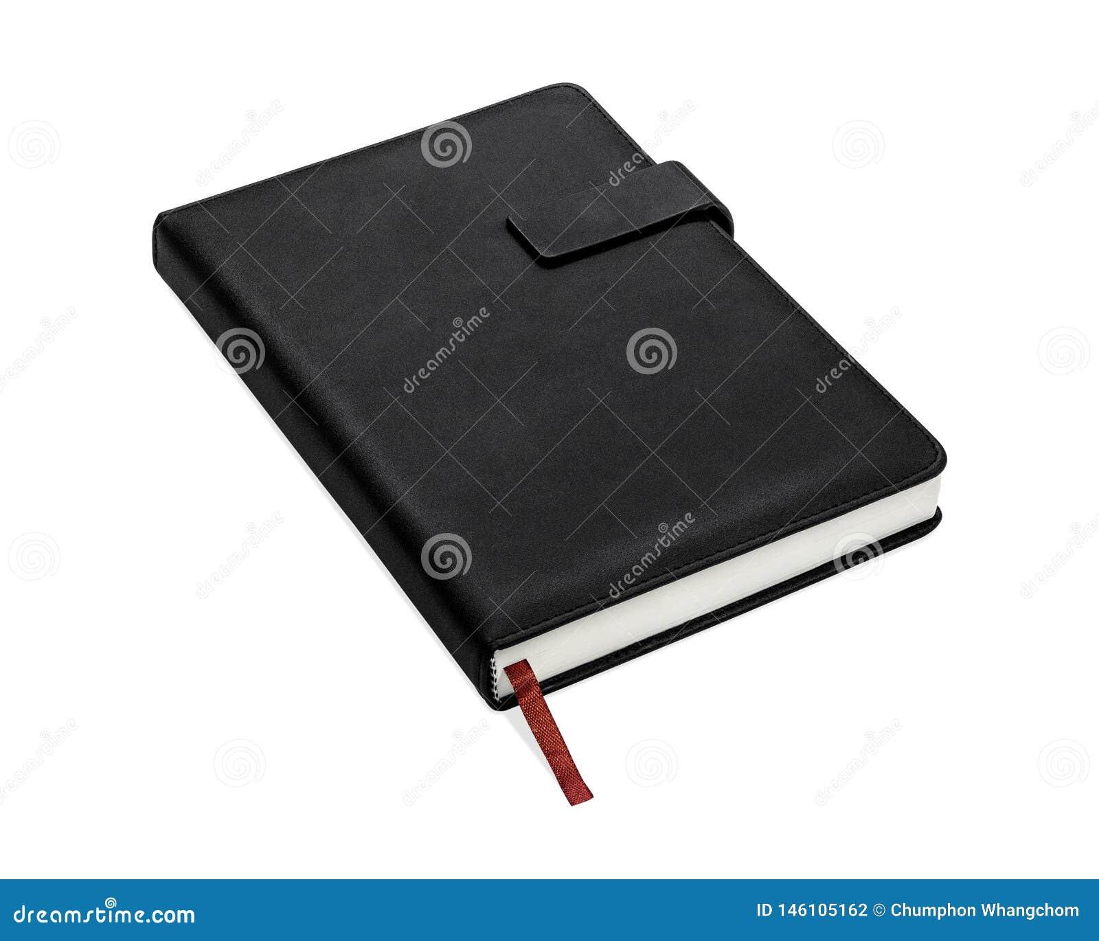 Livre Noir D Isolement Sur Le Fond Blanc Couverture De Livre