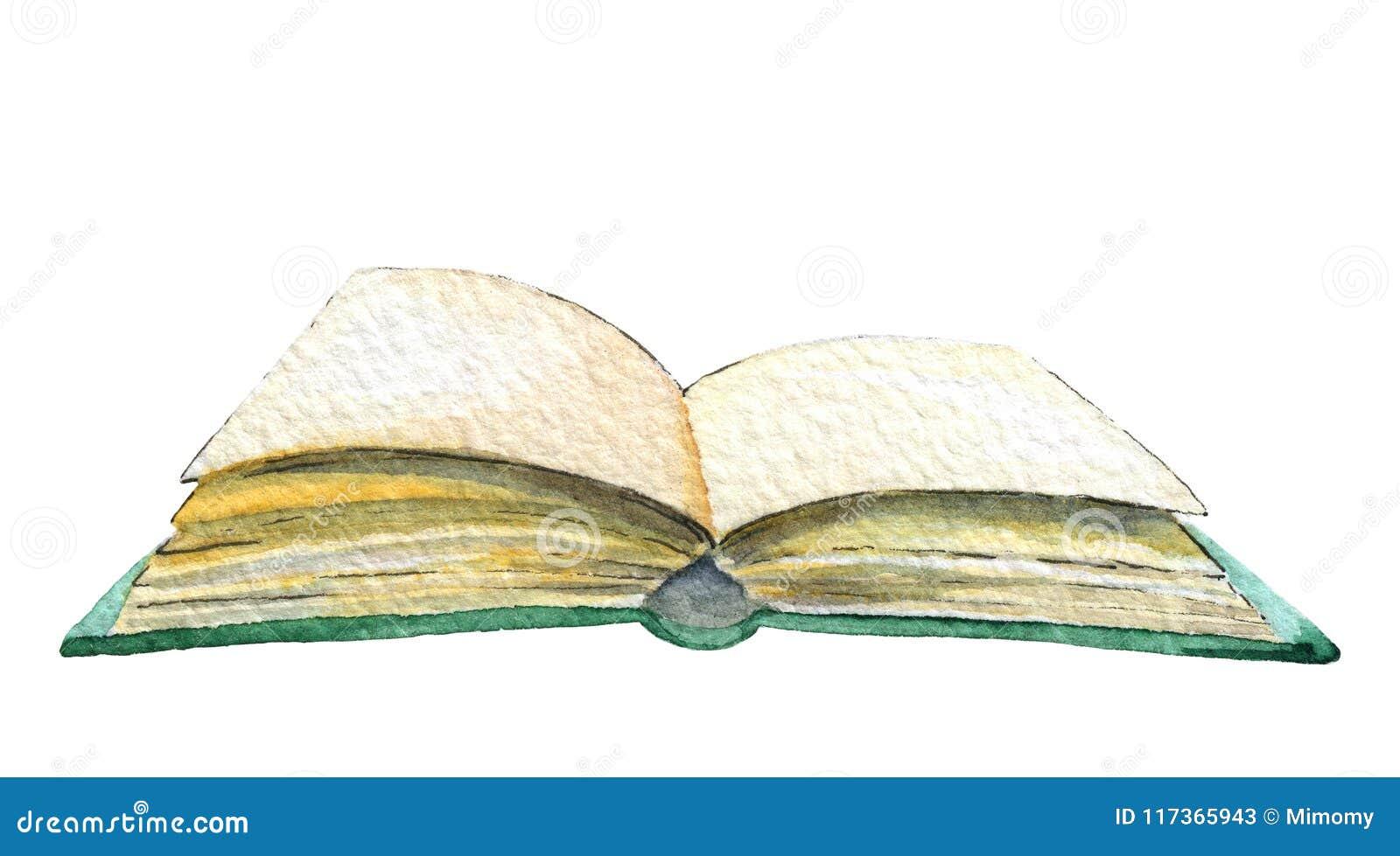 Livre ouvert d aquarelle