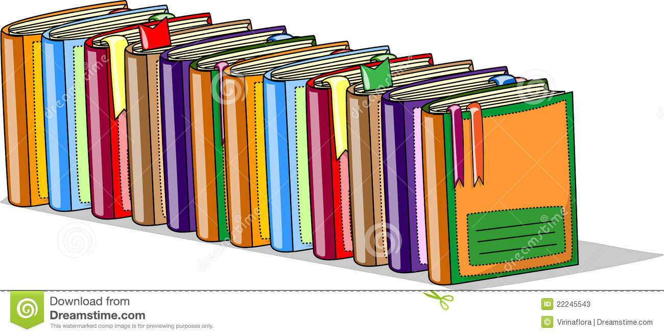 Livres D Ecole De Dessin Anime Vecteur Illustration De