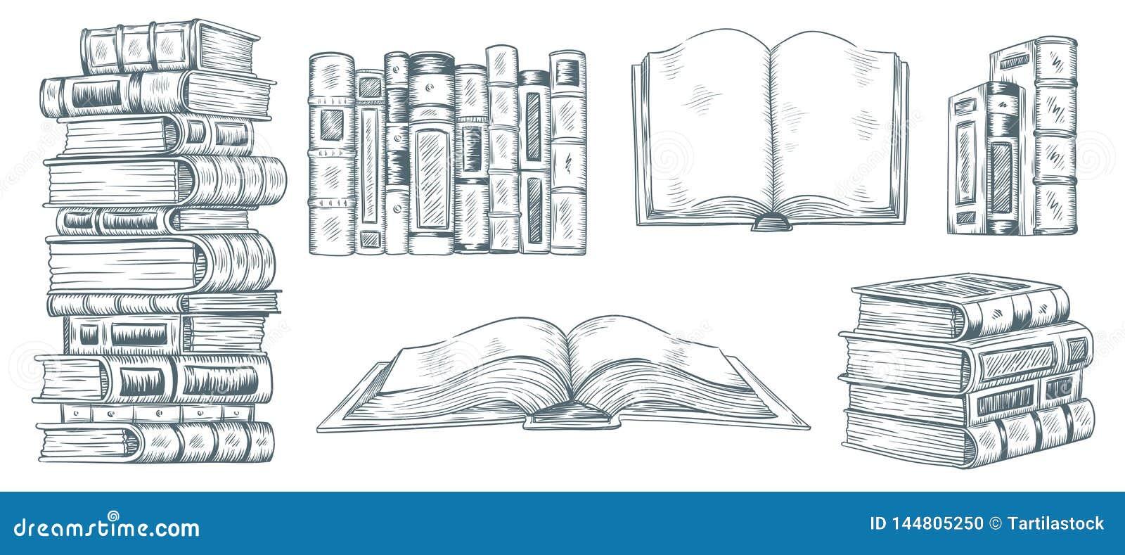 Livres De Dessin De Main Croquis Tire De La Litterature