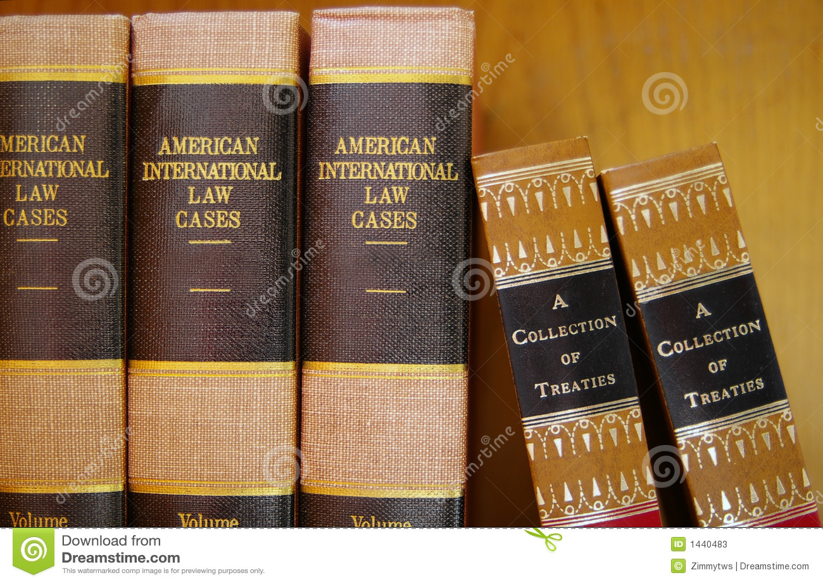 Livres de loi dans une ligne
