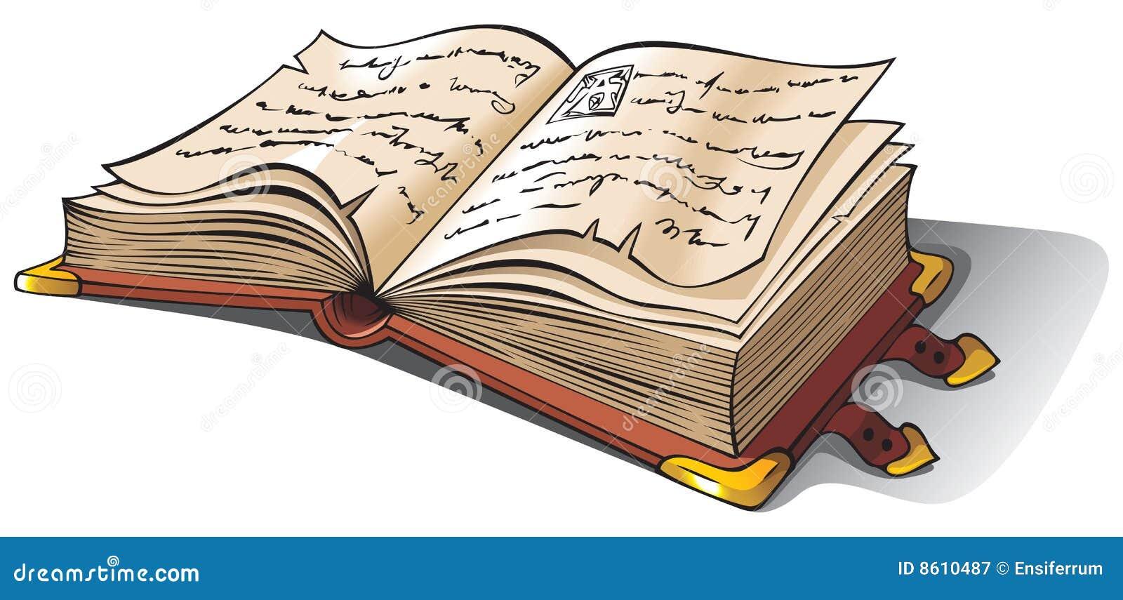 Livro Aberto Antigo Ilustração Do Vetor. Ilustração De