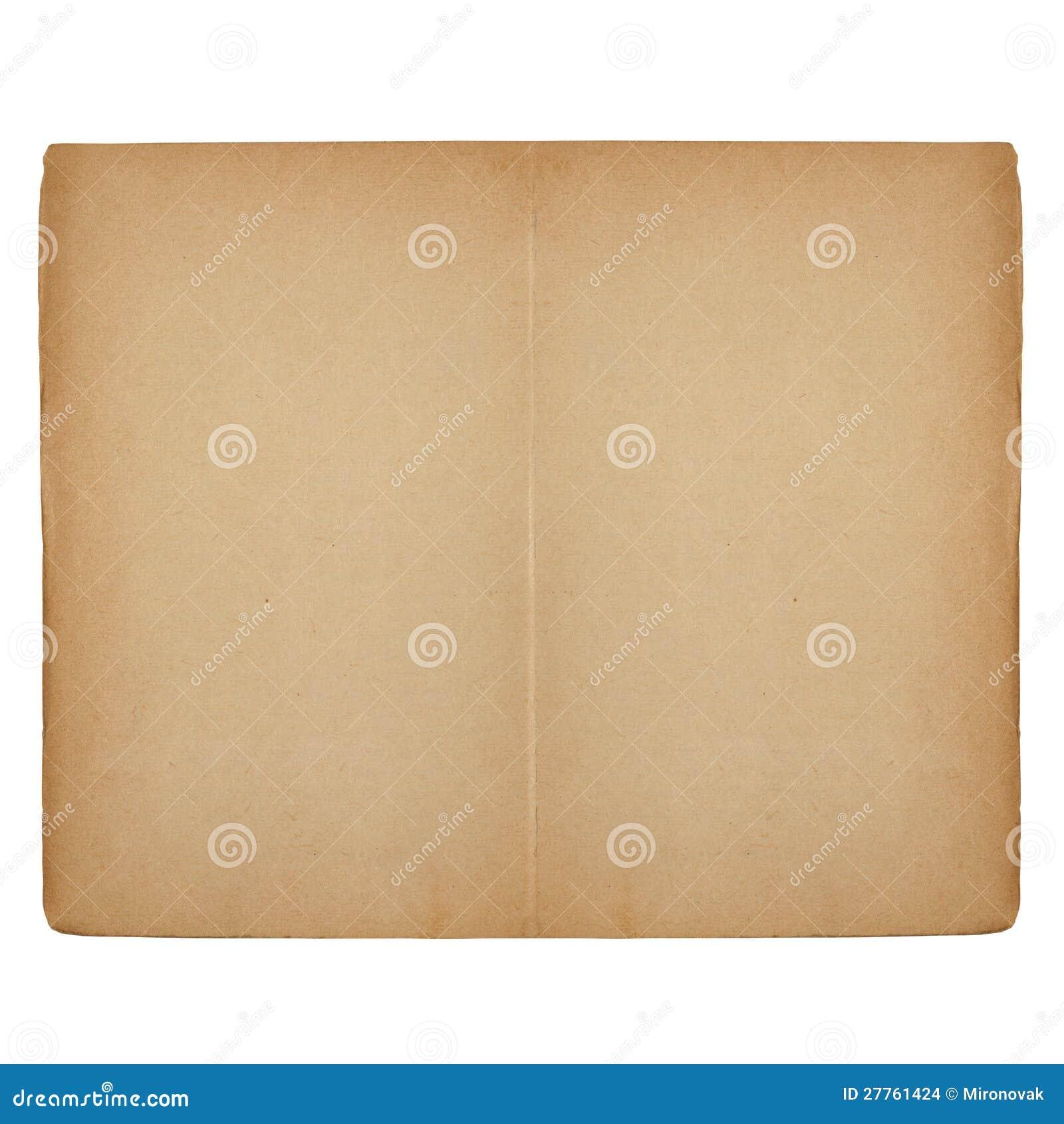 Livro aberto velho com páginas em branco