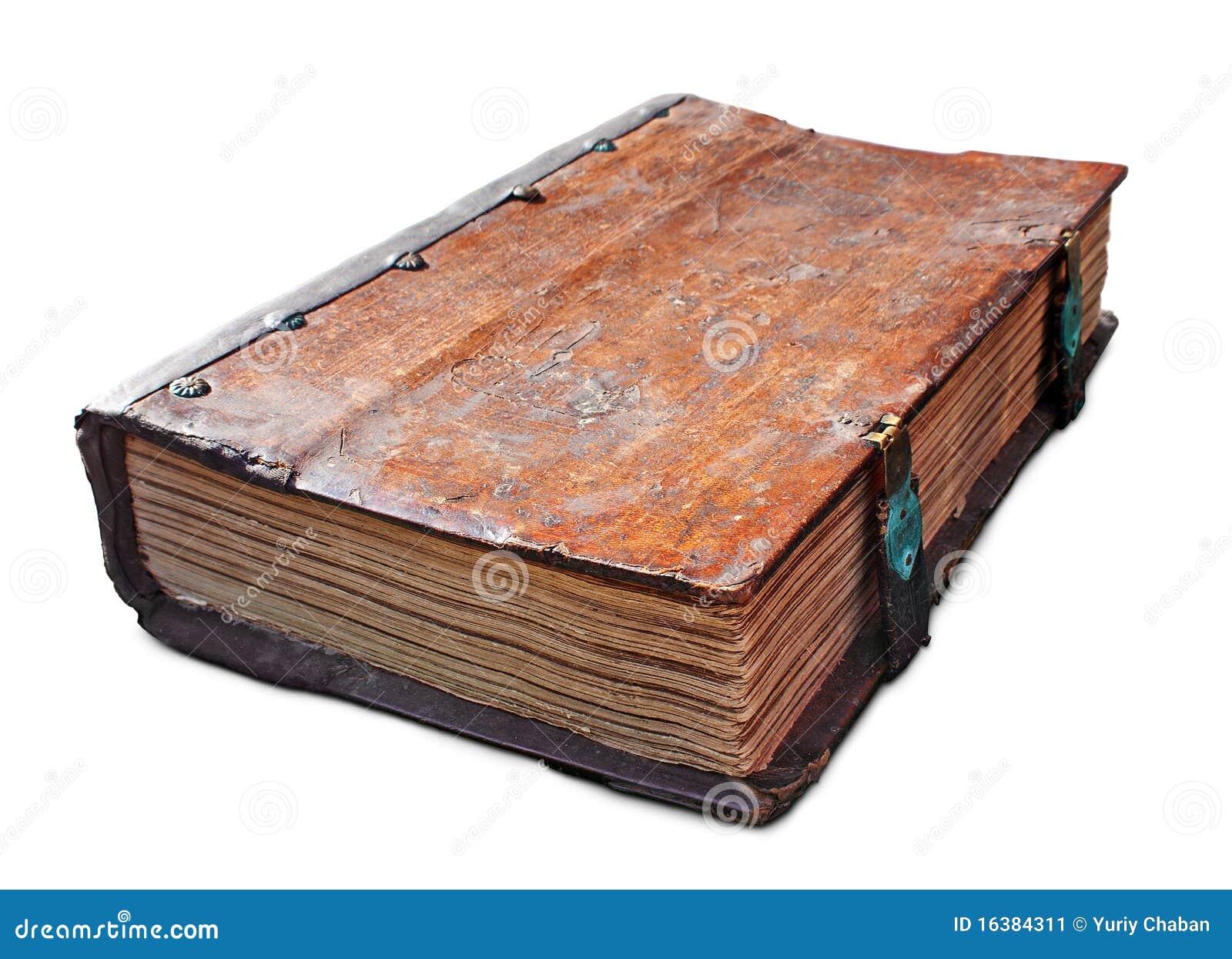 Livro antigo velho com fecho
