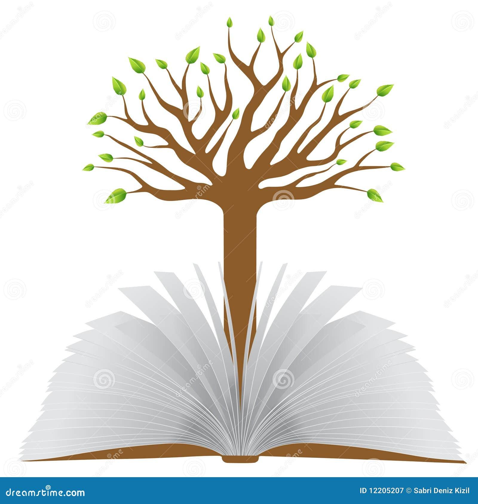 Livro com árvore