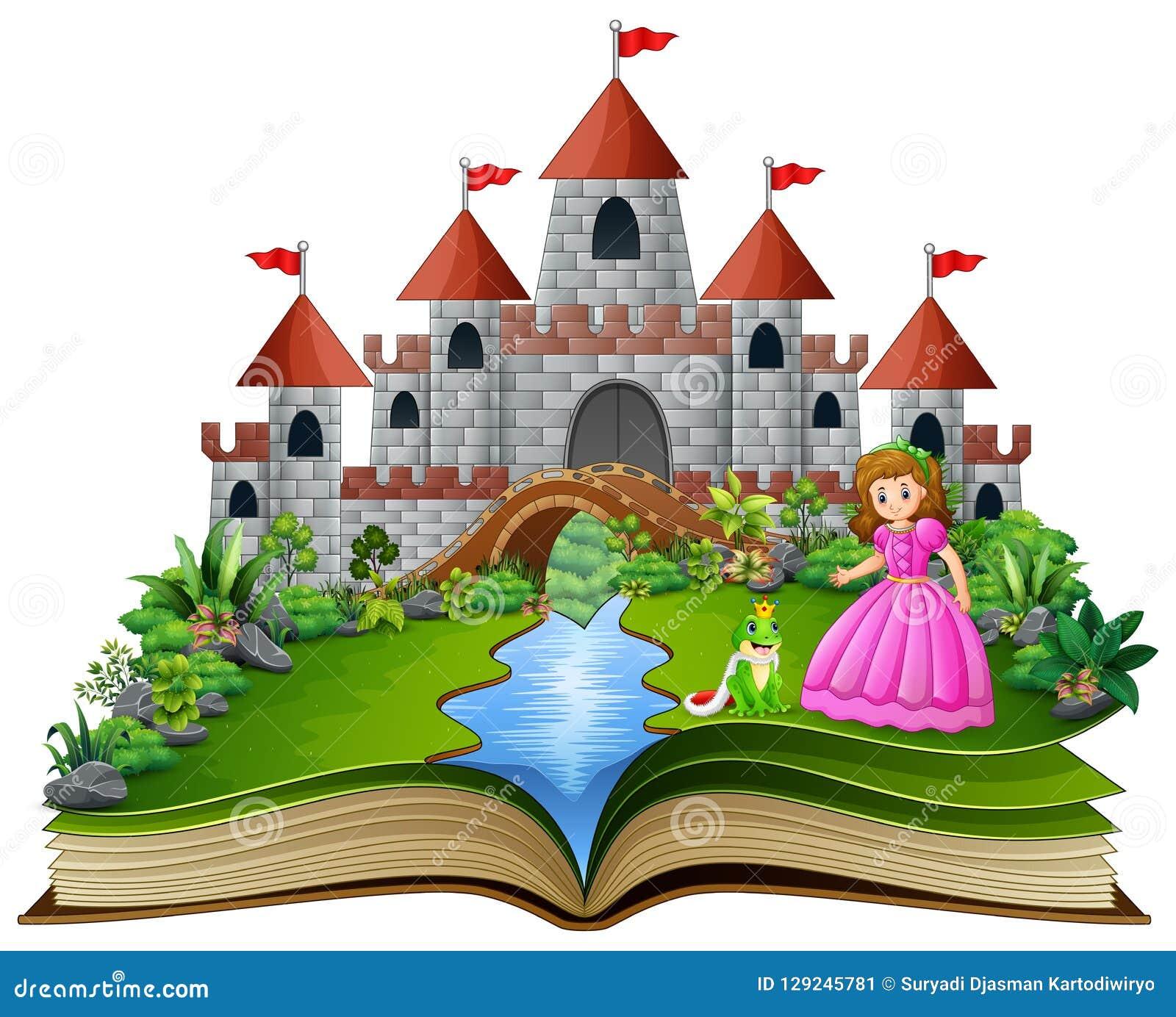 Livro Da Historia De Desenhos Animados Do Principe Da Princesa E